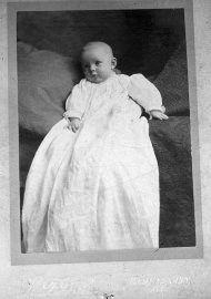Baby picture of pilot Amelia Earhart, Indianapolis, IN. 1897,