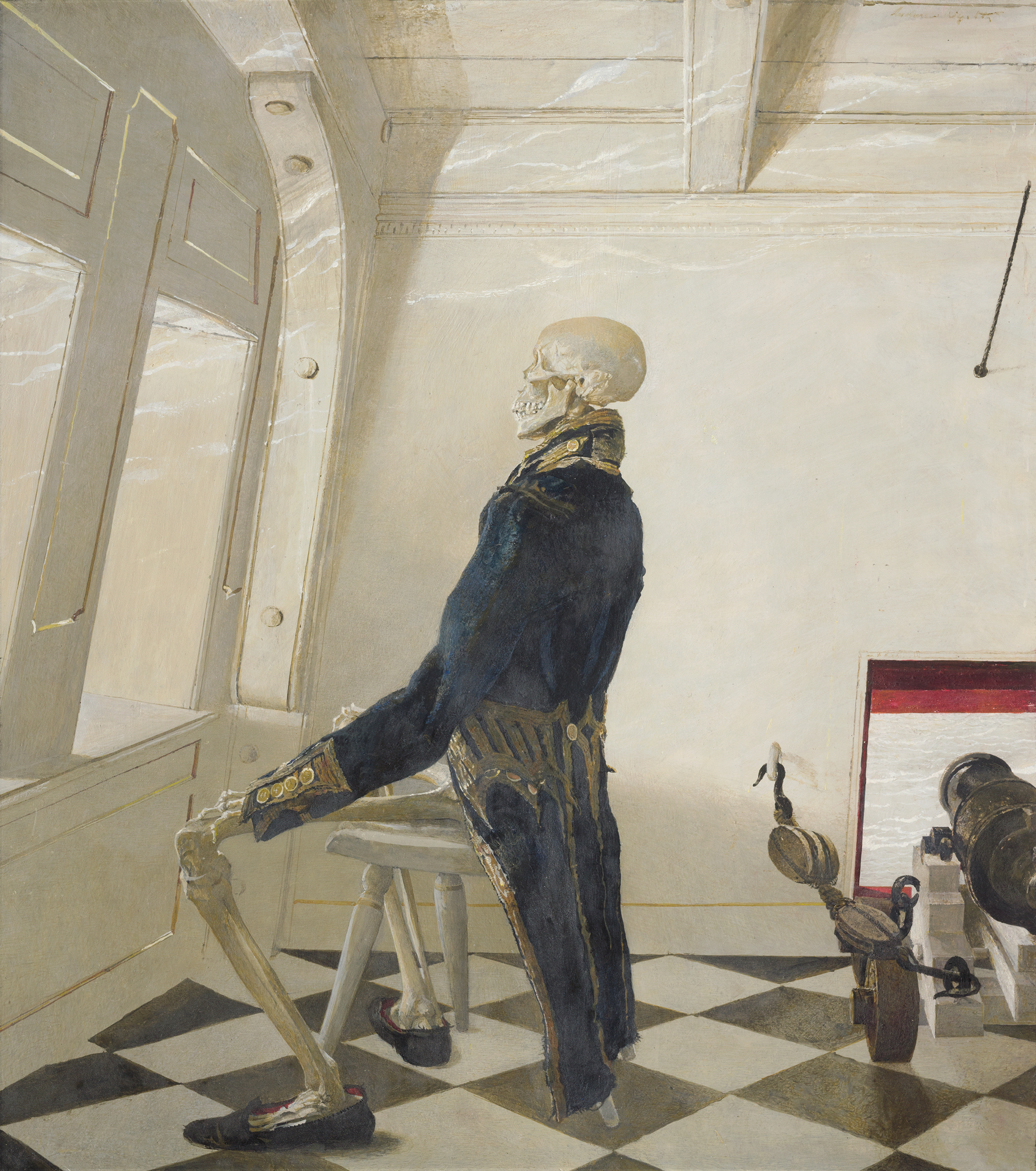 Dr. Syn, 1981 tempera on panel from The Andrew and Betsy Wyeth Collection.