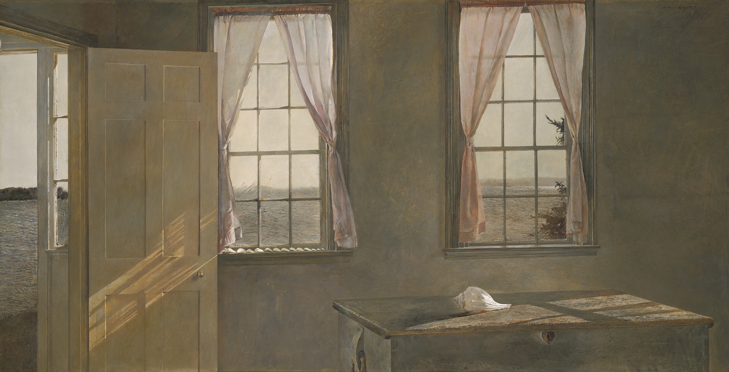 Her Room, 1963 tempera on panel from The Andrew and Betsy Wyeth Collection.