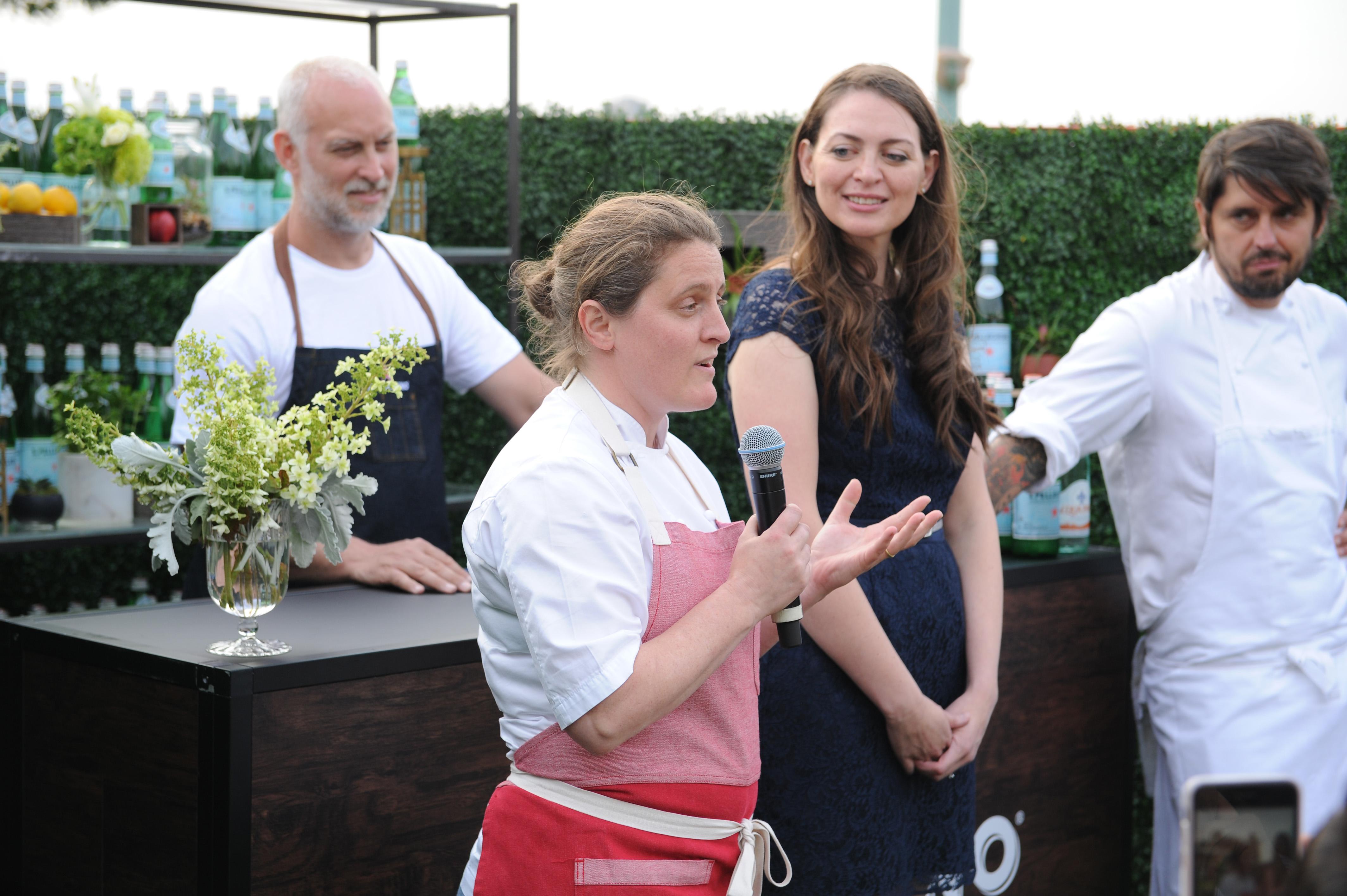 Dinner during S.Pellegrino Taste Guide Event With Chefs April Bloomfield & Ludo Lefebvre at Hudson River Park at Pier 46 on June 29, 2017 in New York City.