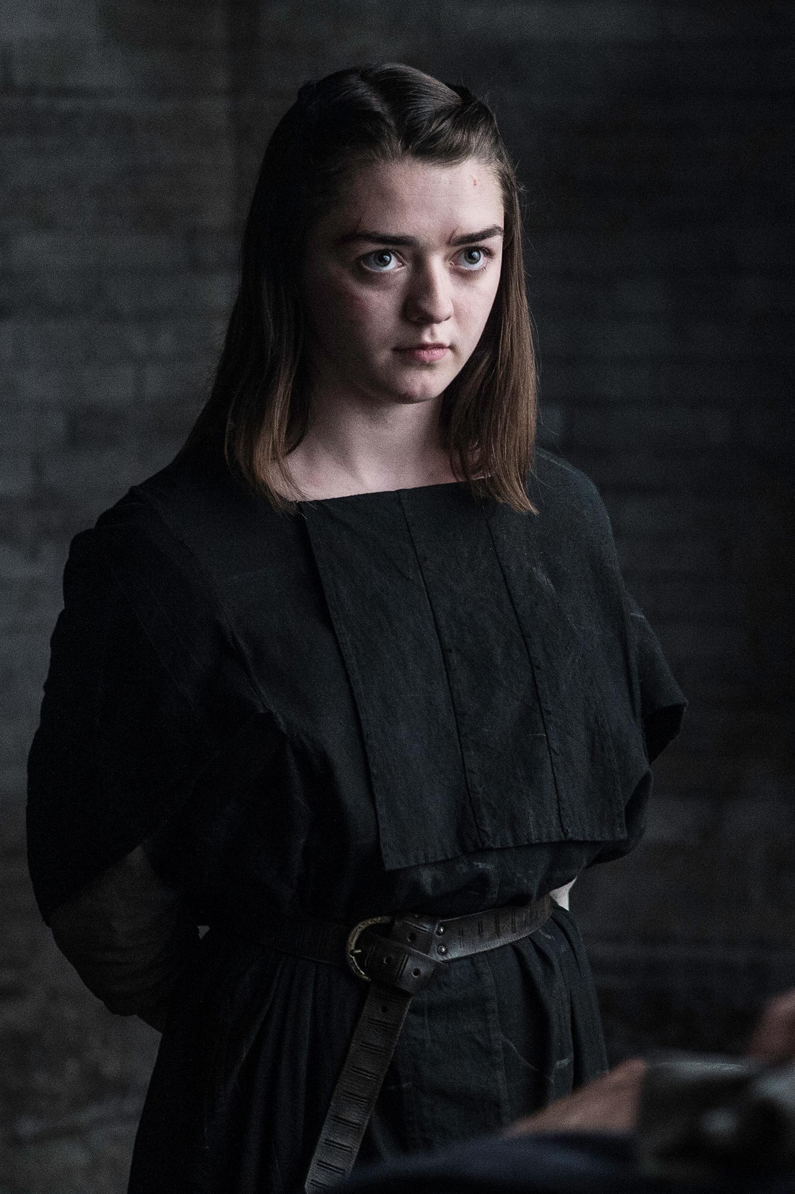 Arya Stark in Season 6 of Game of Thrones. Helen Sloan–HBO