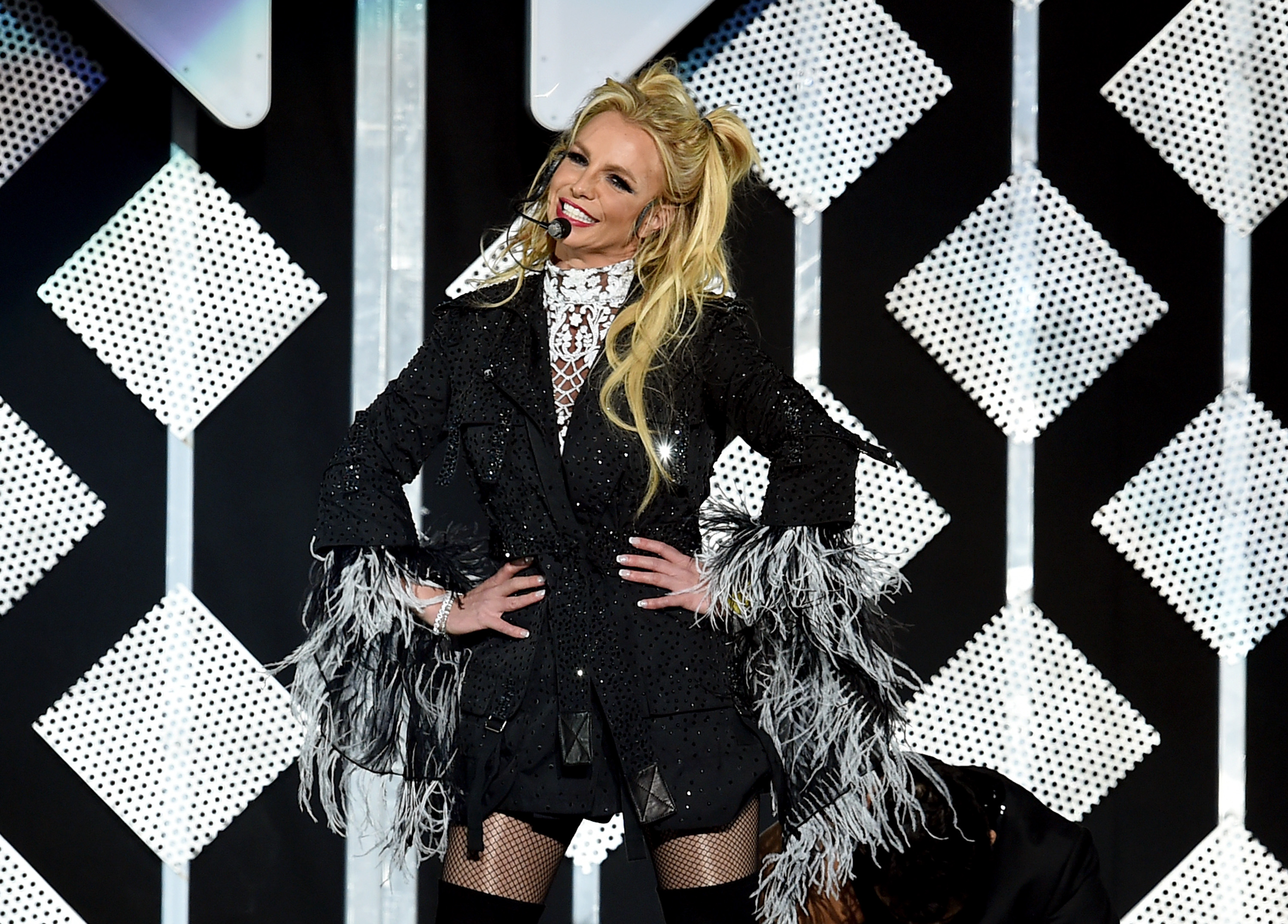 Singer Britney Spears performs onstage during 102.7 KIIS FM's Jingle Ball 2016 presented by Capital One at Staples Center on December 2, 2016 in Los Angeles, Calif.