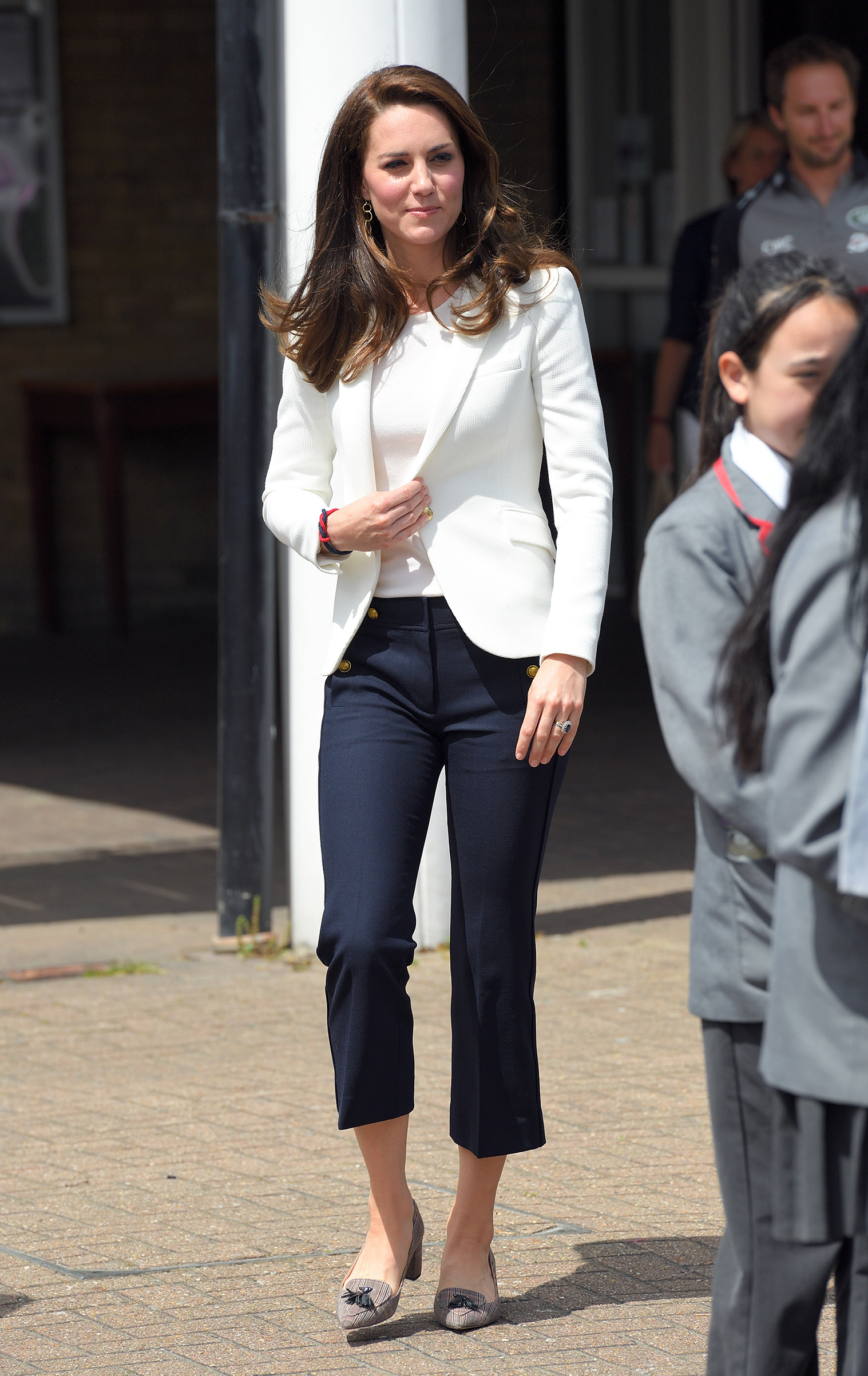 Catherine, Duchess of Cambridge, visits the 1851 Trust roadshow at Docklands Sailing and Watersports Center in London on June 16, 2017.  The Duchess of Cambridge is patron of the 1851 Trust.