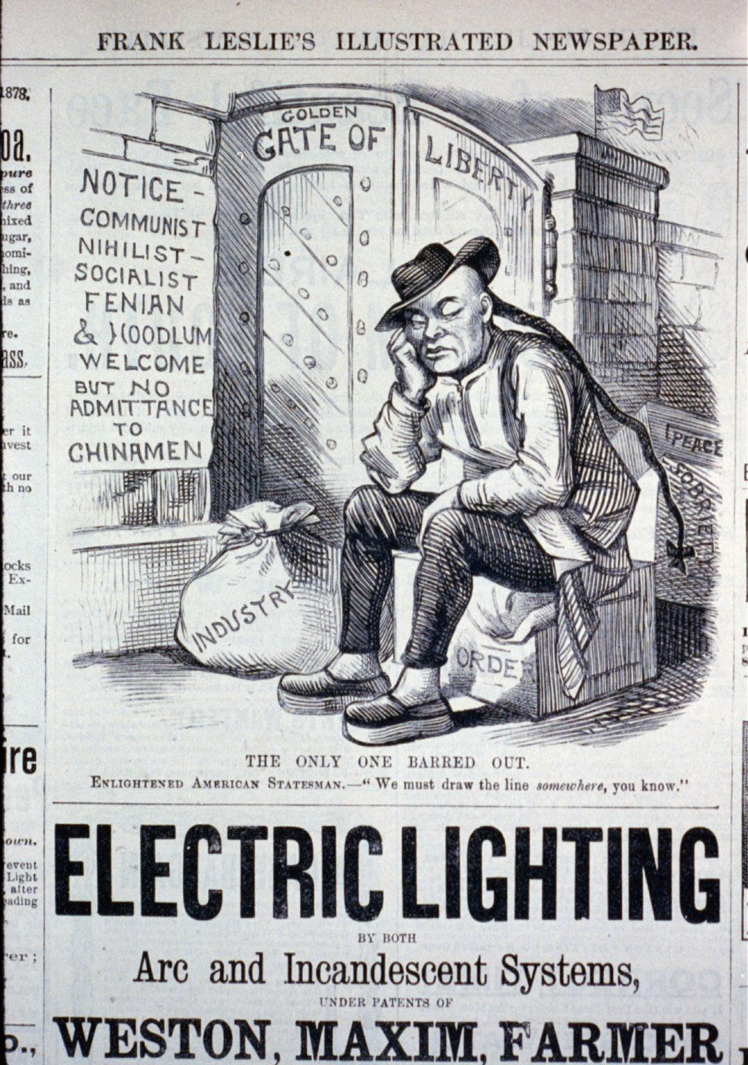 Chinese Exclusion Act, May 16, 1882.