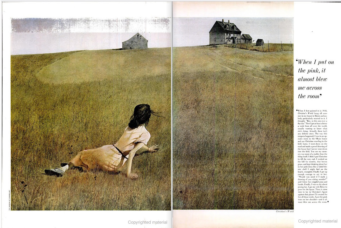 Christina's World by Andrew Wyeth featured in the May 14, 1965 issue of LIFE magazine.