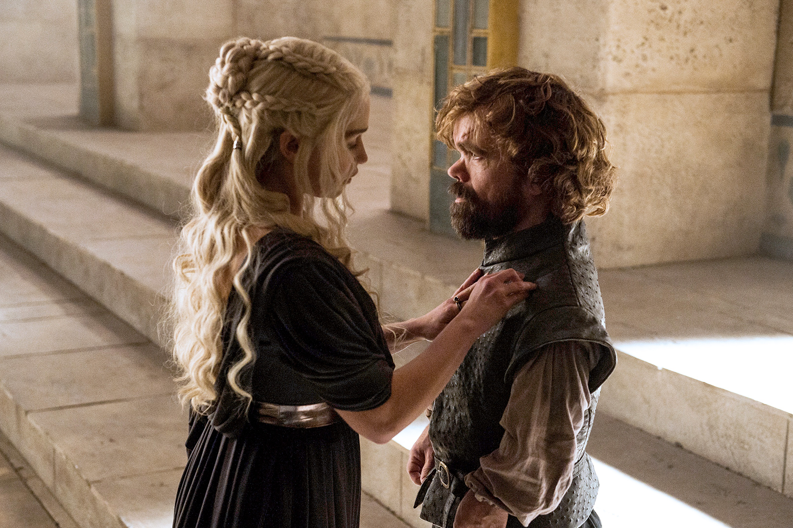 Emilia Clarke and Peter Dinklage in season 6 of 'Game of Thrones.'