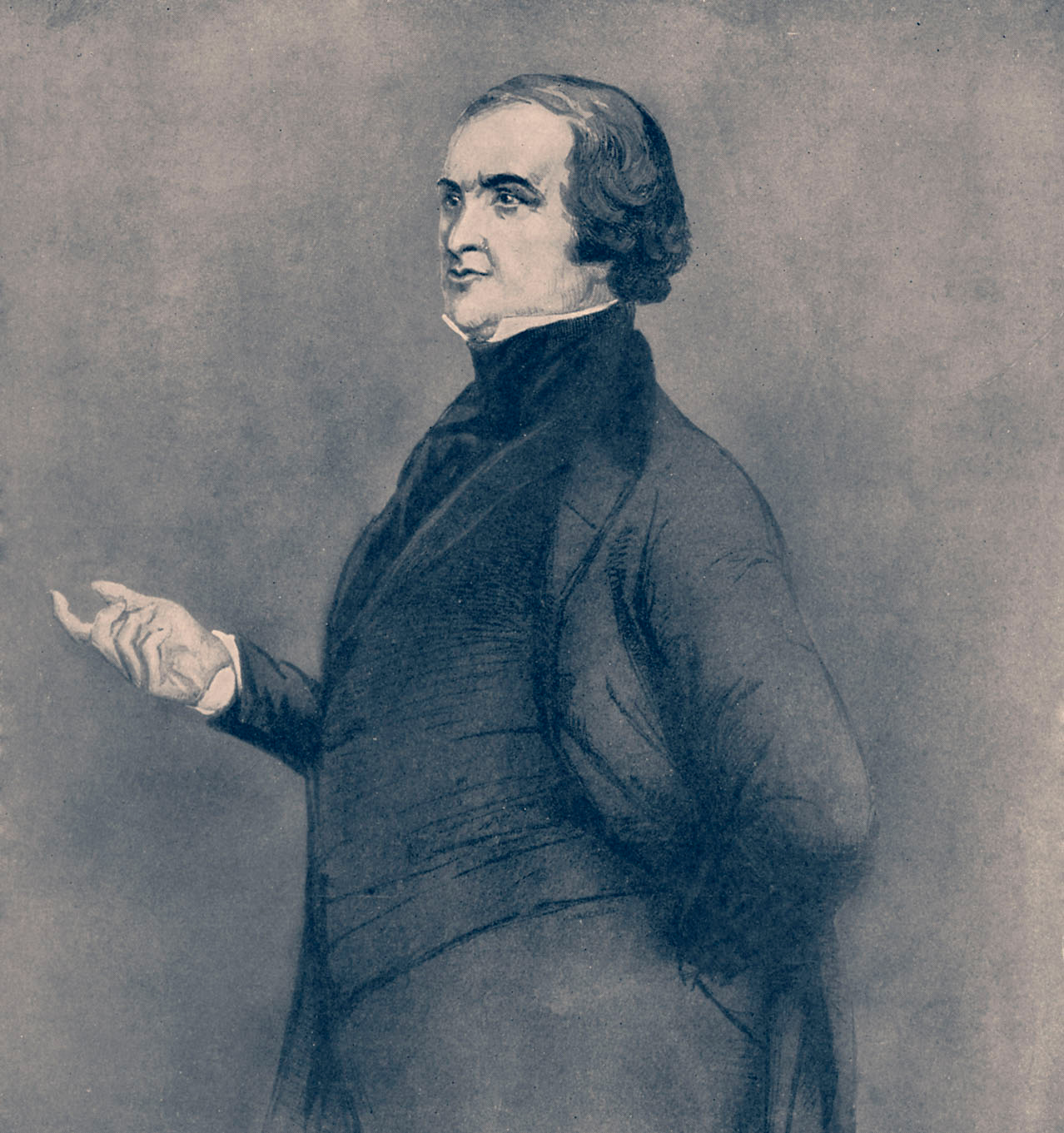 Sir Robert Peel, Prime Minister of the United Kingdom giving a speech in favor of repeal of Corn Laws, 1846.