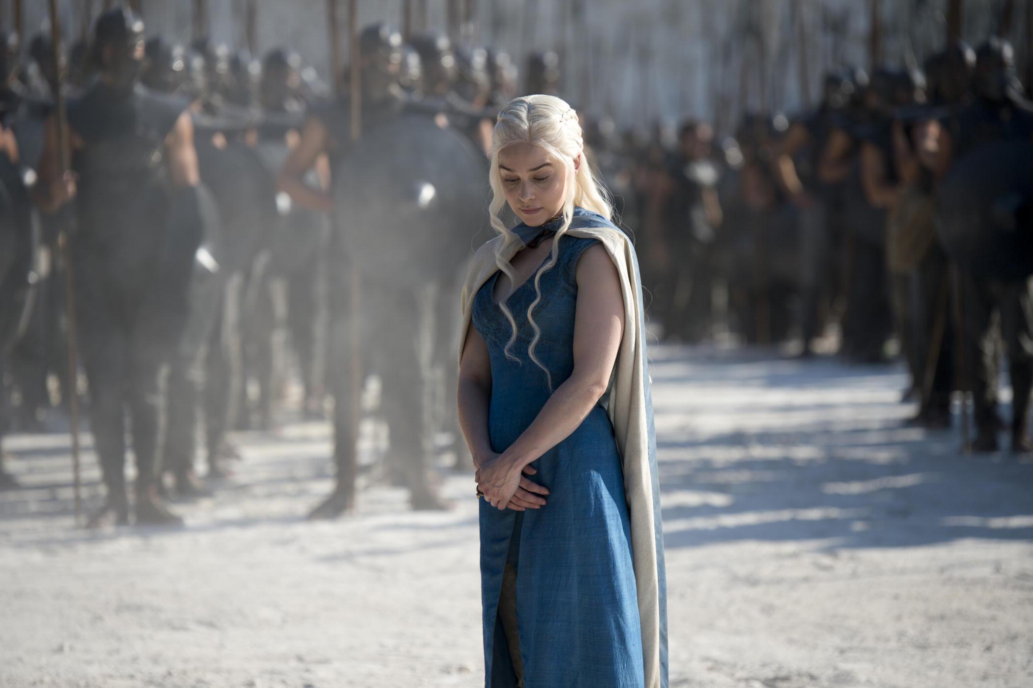 Daenerys Tagaryen in Season 3 of Game of Thrones