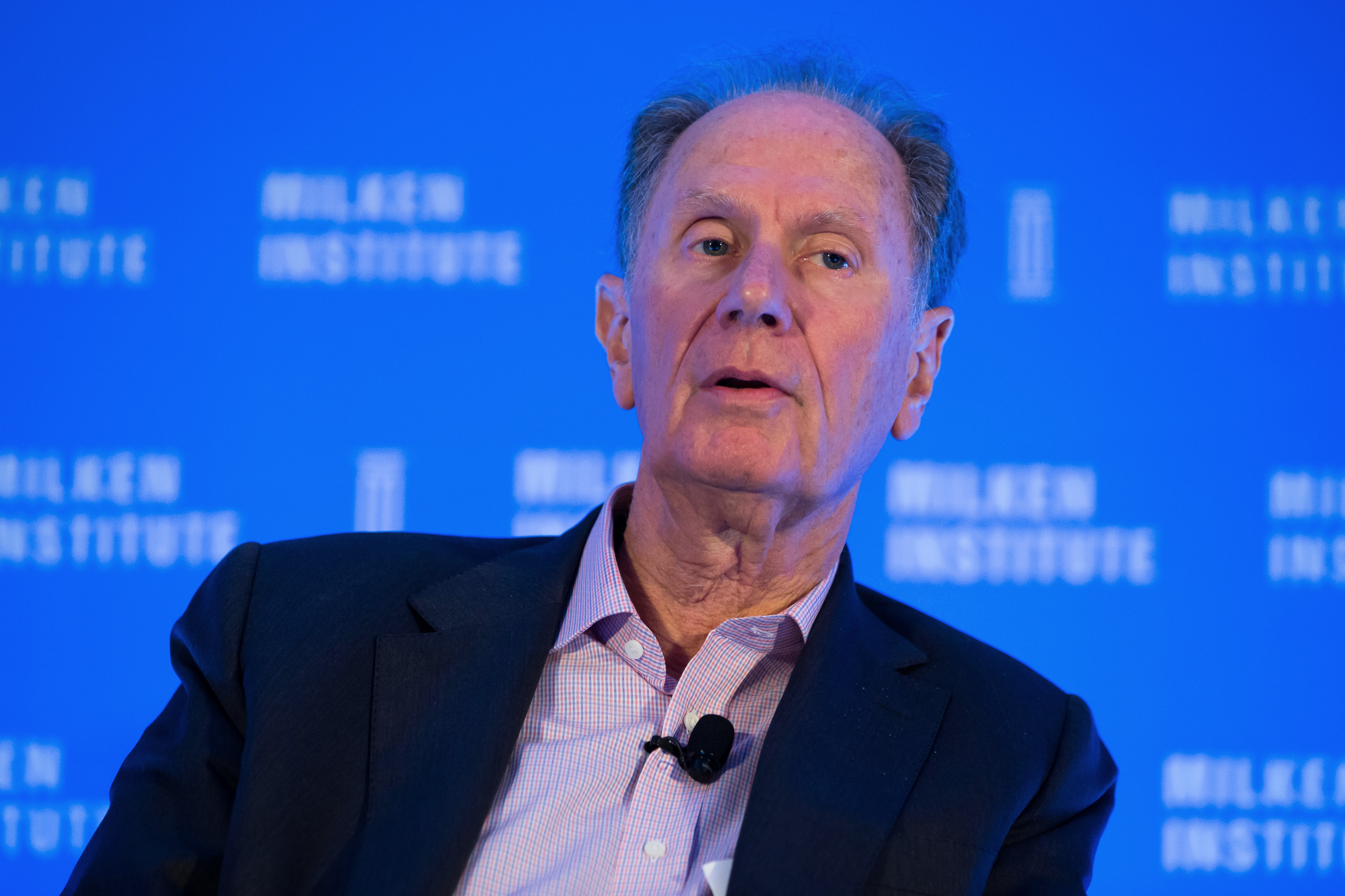 David Bonderman, co-founder and chairman of TPG Holdings LP, speaks at the Milken Institute Asia Summit in Singapore, on Friday, Sept. 16, 2016.