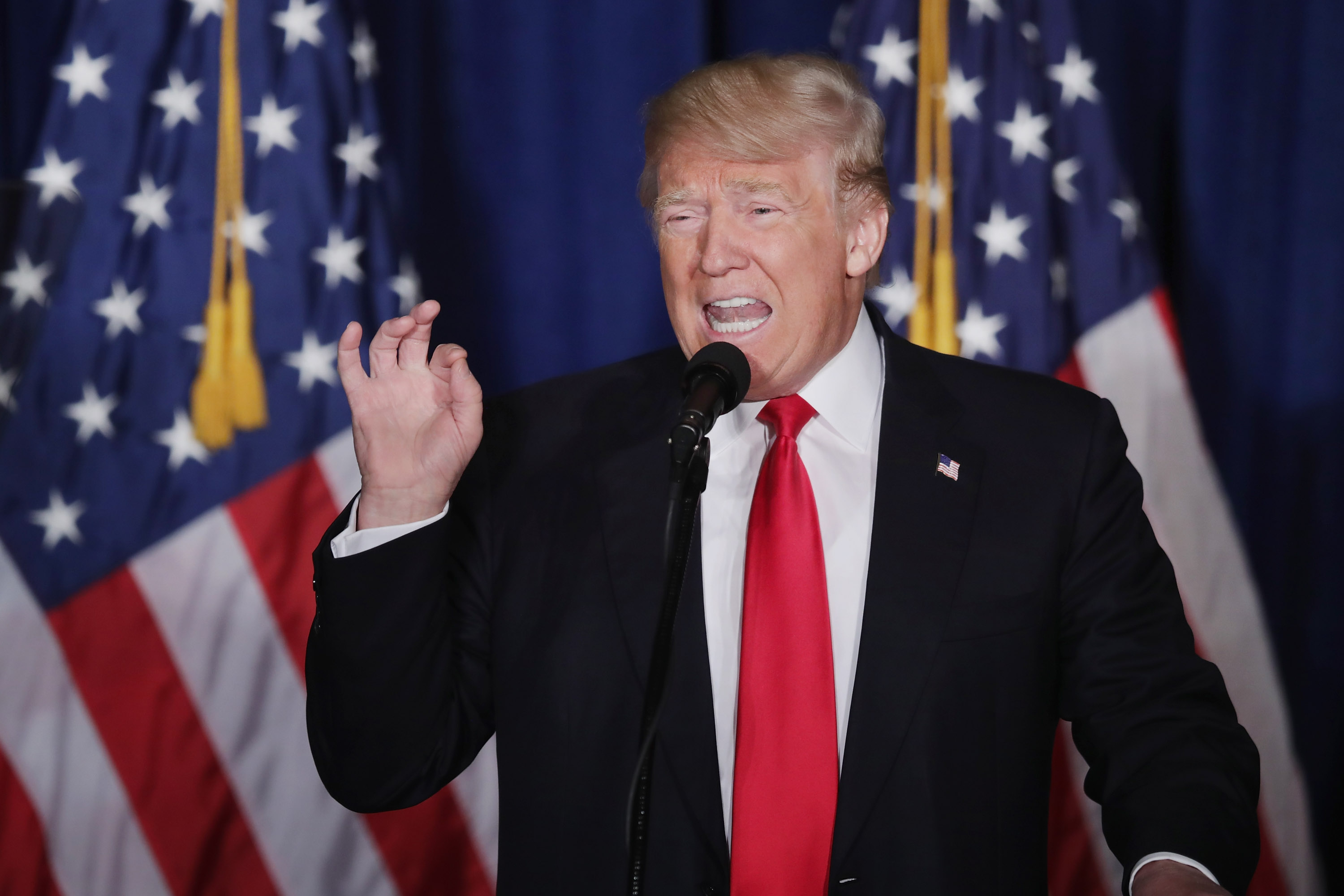 GOP Republican Presidential Candidate Donald Trump Gives Foreign Policy Address In DC