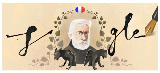 Victor Hugo Google Doodle.