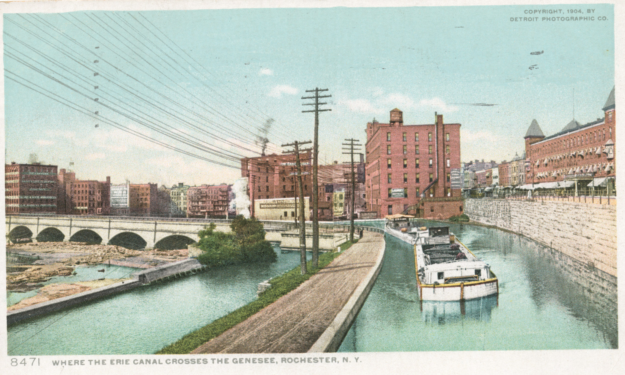 Where the Erie Canal crosses the Genesee, Rochester, NY.