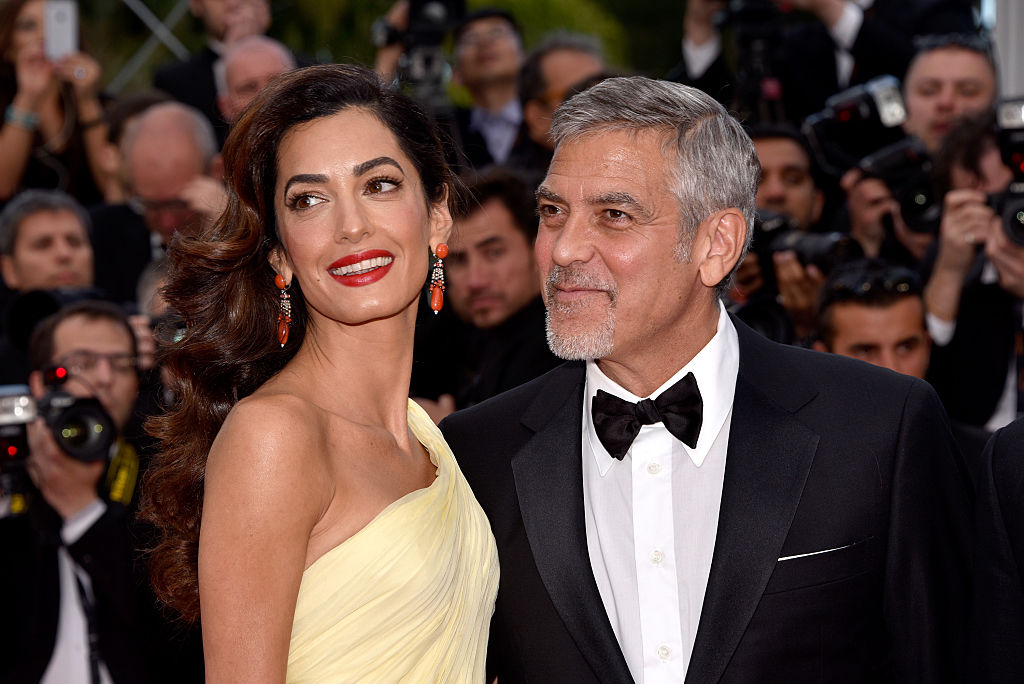 Actor George Clooney and his wife Amal Clooney attend the  Money Monster  premiere during the 69th annual Cannes Film Festival at the Palais des Festivals on May 12, 2016 in Cannes, France.