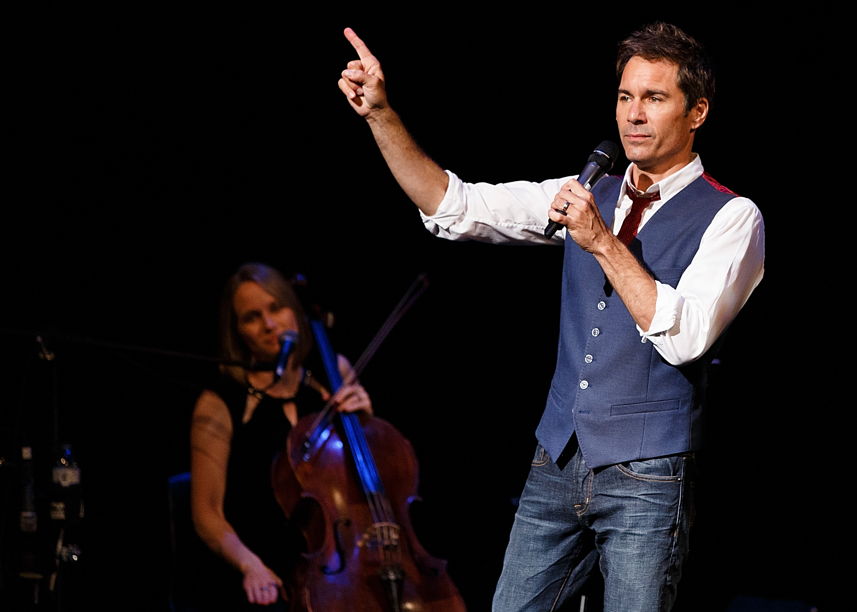 Actor Eric McCormack performs onstage during 'An Evening With Eric McCormack In Support Of Prostate Cancer Canada' at Stanley Industrial Alliance Stage on August 5, 2016 in Vancouver, Canada.
