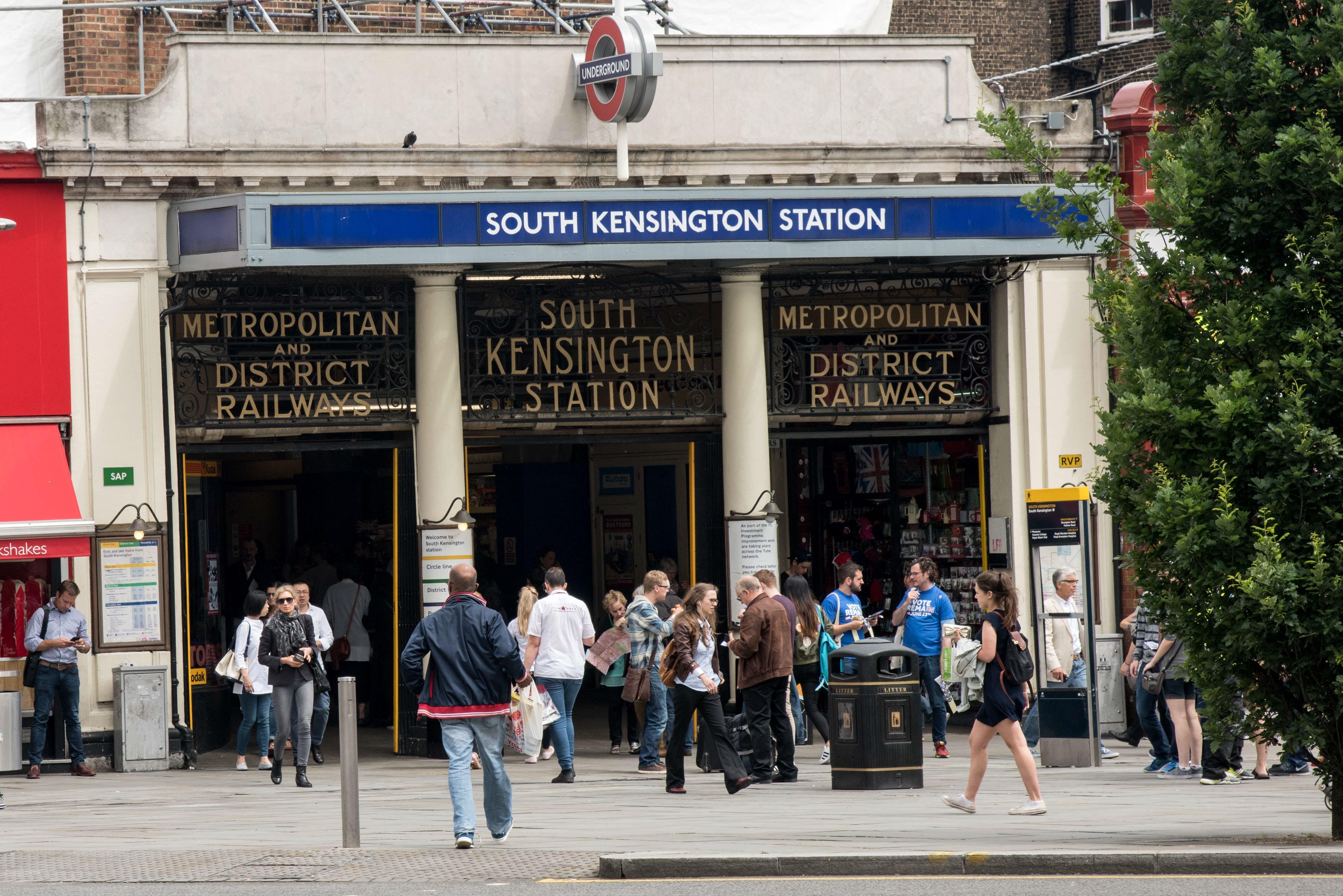 South Kensington station, London, England.