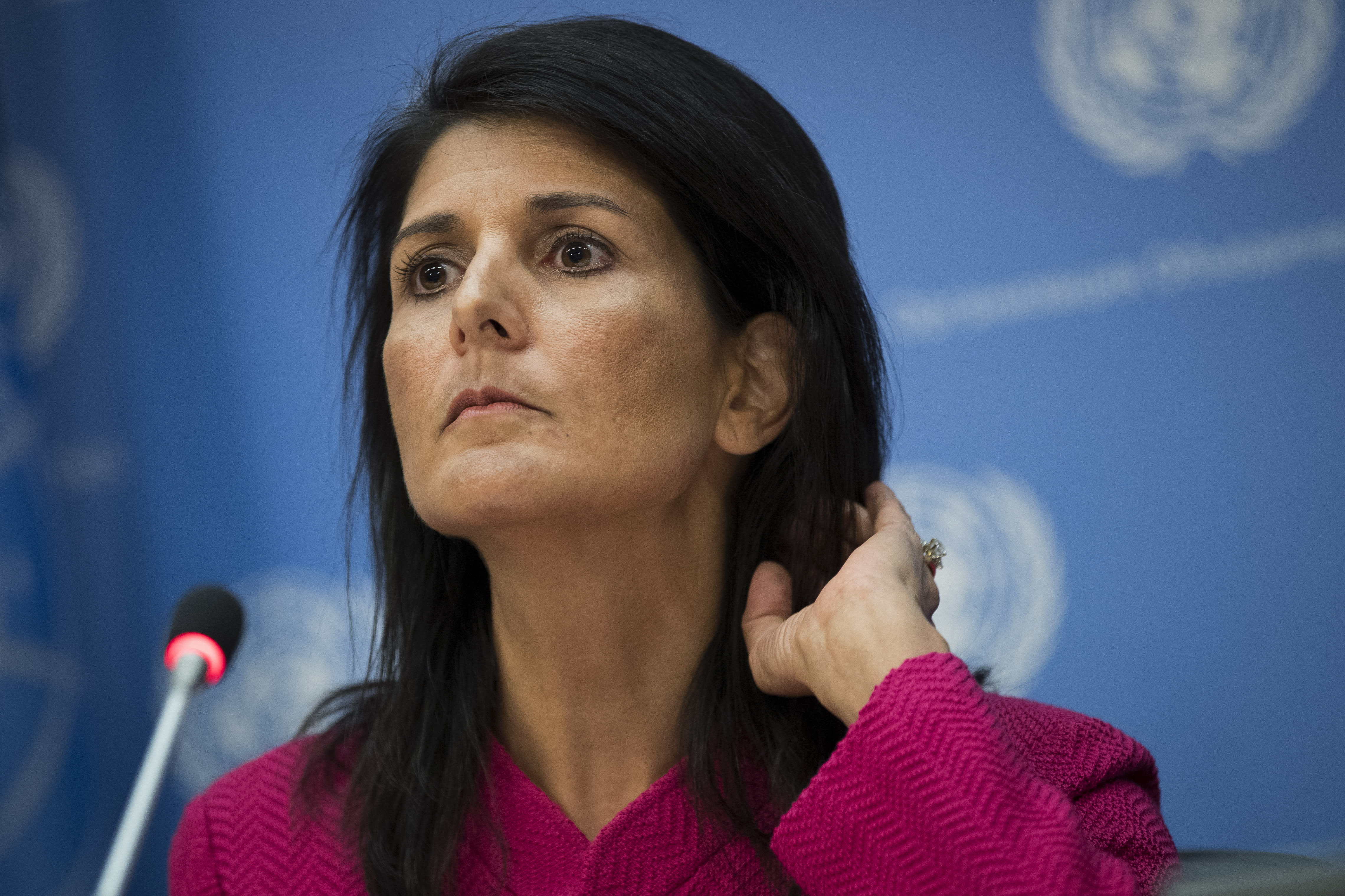 U.S. Ambassador to the United Nation Nikki Haley at the United Nations headquarters on April 3, 2017.