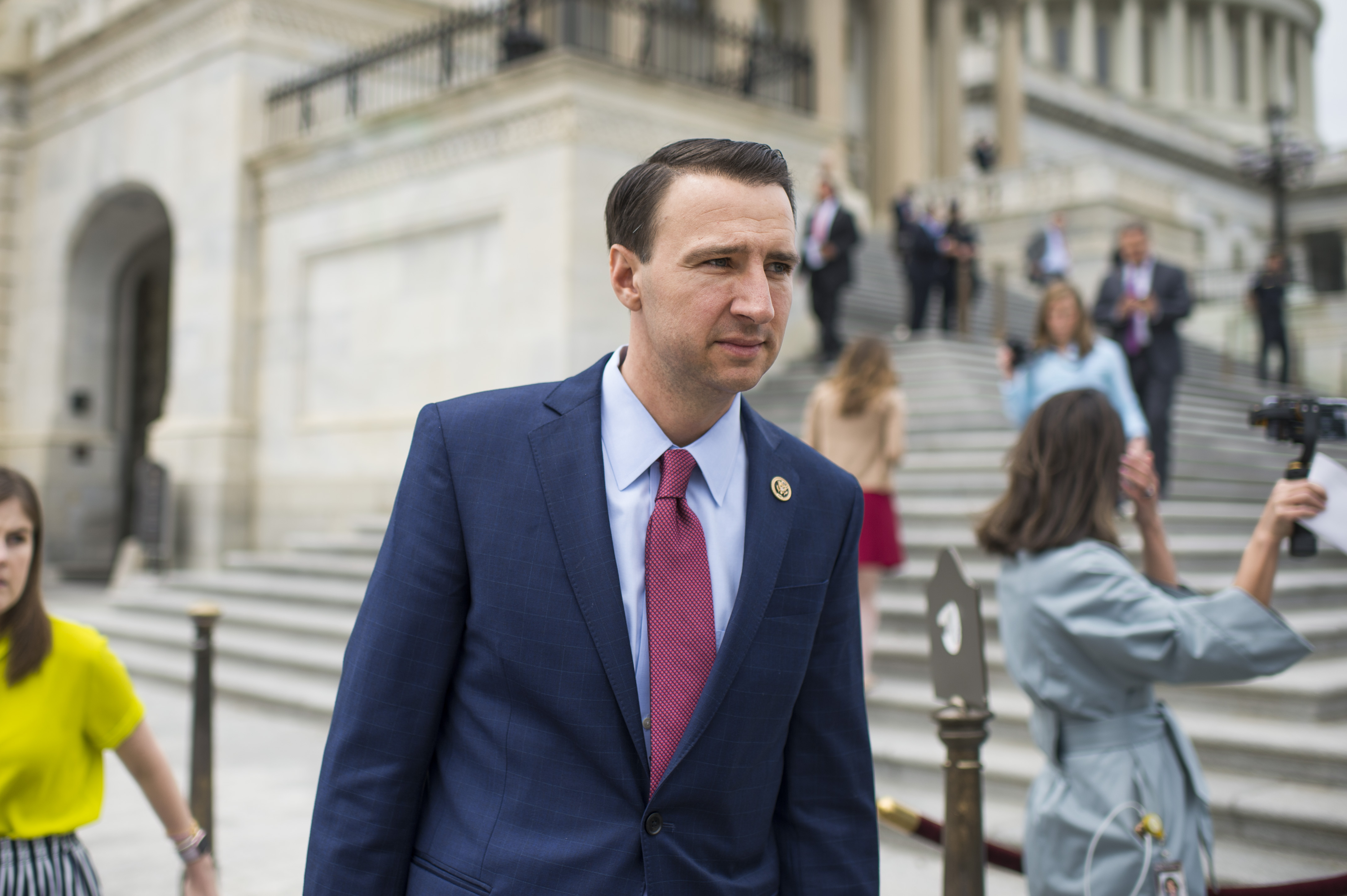 UNITED STATES - MAY 4: Rep. Ryan Costello, R-Pa., leaves the Capitol after the House passed the Republicans' bill to repeal and replace the Affordable Care Act on May 4, 2017. (Photo By Tom Williams/CQ Roll Call)