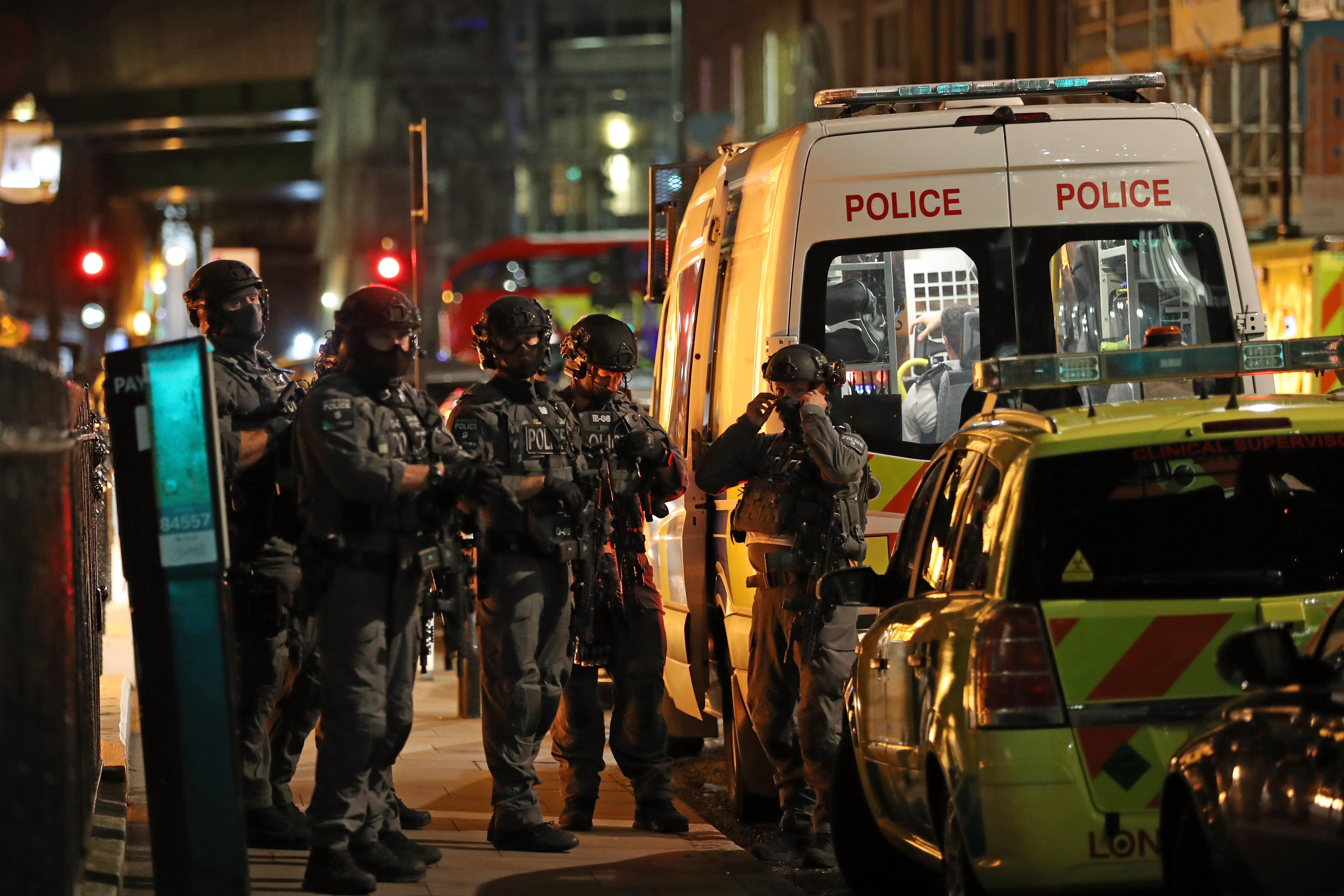 Counter-terrorism special forces are seen at London Bridge on June 3, 2017 in London, England.
