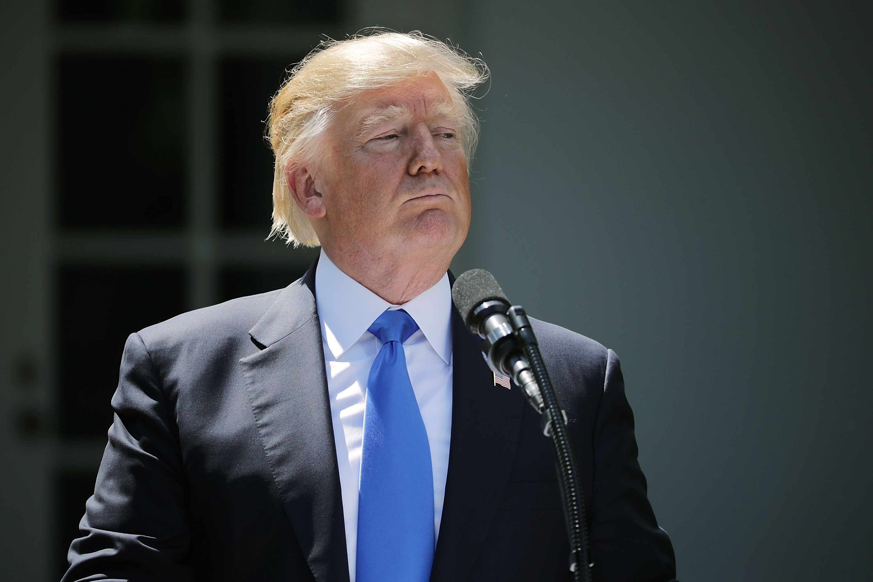 President Donald Trump at the White House on June 9, 2017.