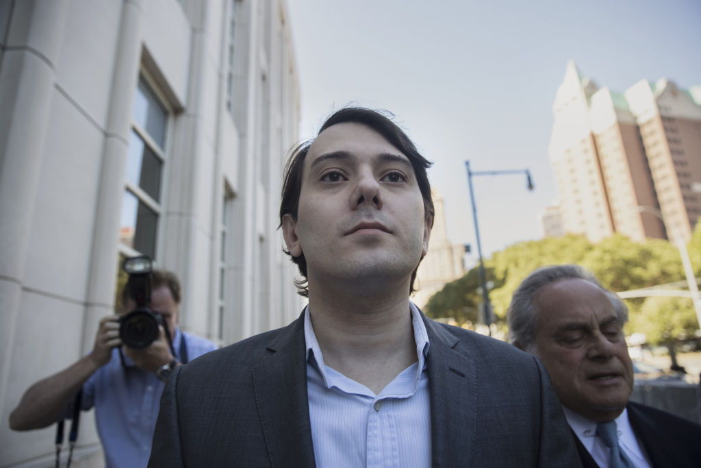 Martin Shkreli, former CEO of Turing Pharmaceuticals, at federal court in Brooklyn, New York, on June 26, 2017.