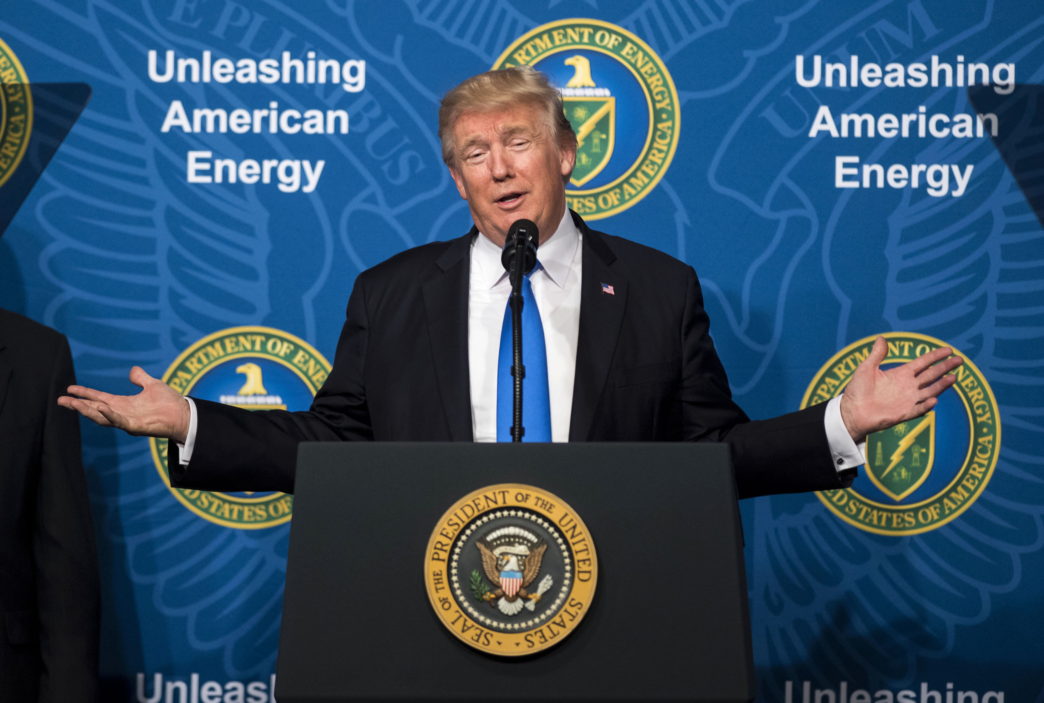 President Trump speaks during the Unleashing American Energy event at the Department of Energy in Washington, D.C., on  June 29, 2017.