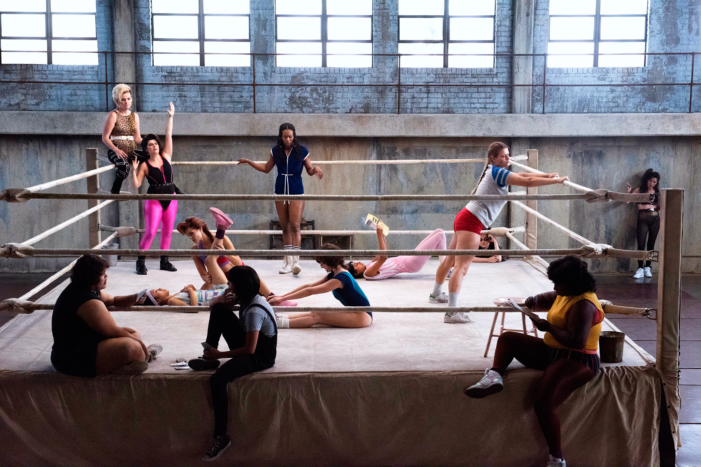 The women of Glow own the ring; they're based on the real-life troupe created in 1986