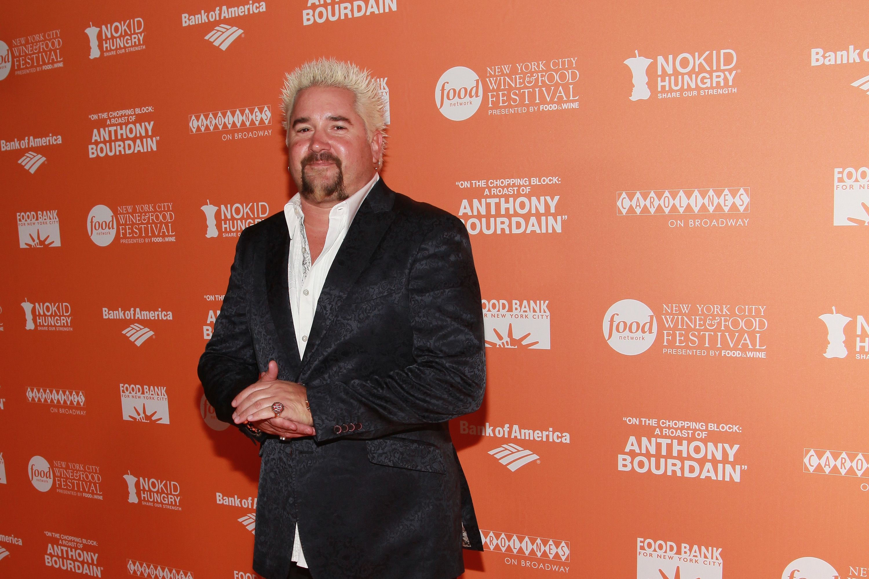 TV personality Guy Fieri attends On The Chopping Block: A Roast of Anthony Bourdain at Pier Sixty at Chelsea Piers on October 11, 2012 in New York City.