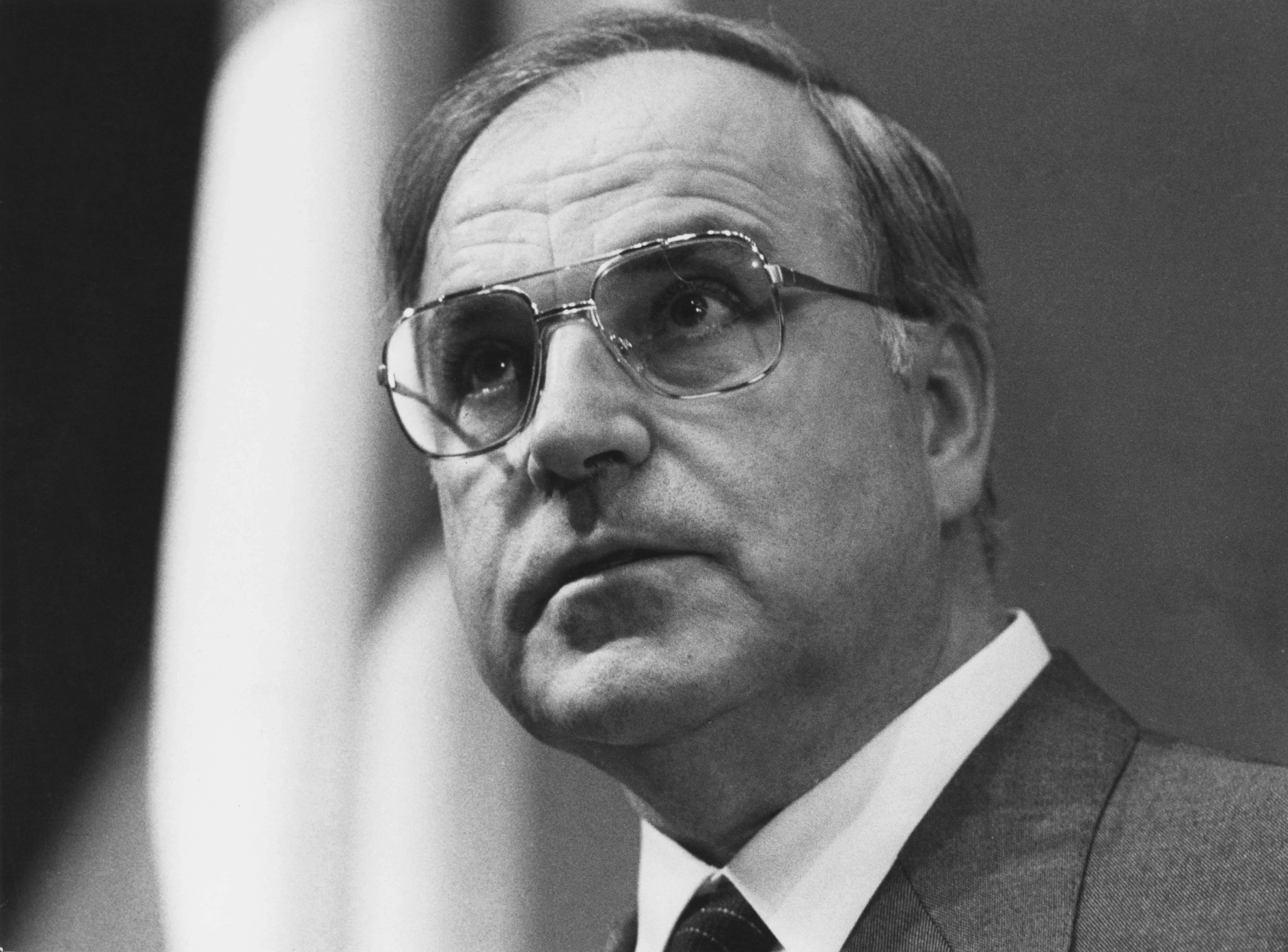 German politician Helmut Kohl, chairman of the opposition Christian Democratic Union (CDU), May 1981.