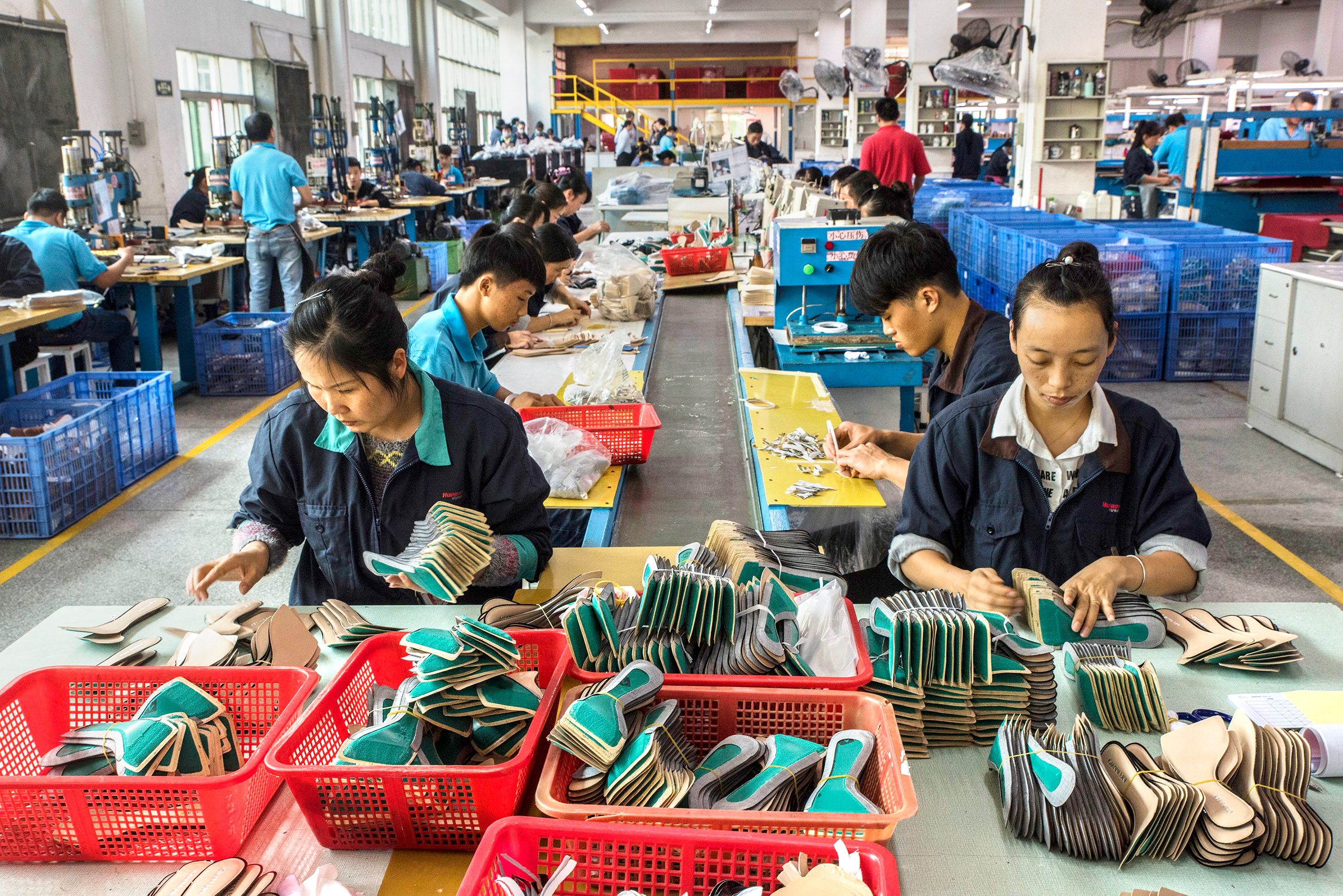 This factory in Dongguan, China, makes shoes for Trump and other designers