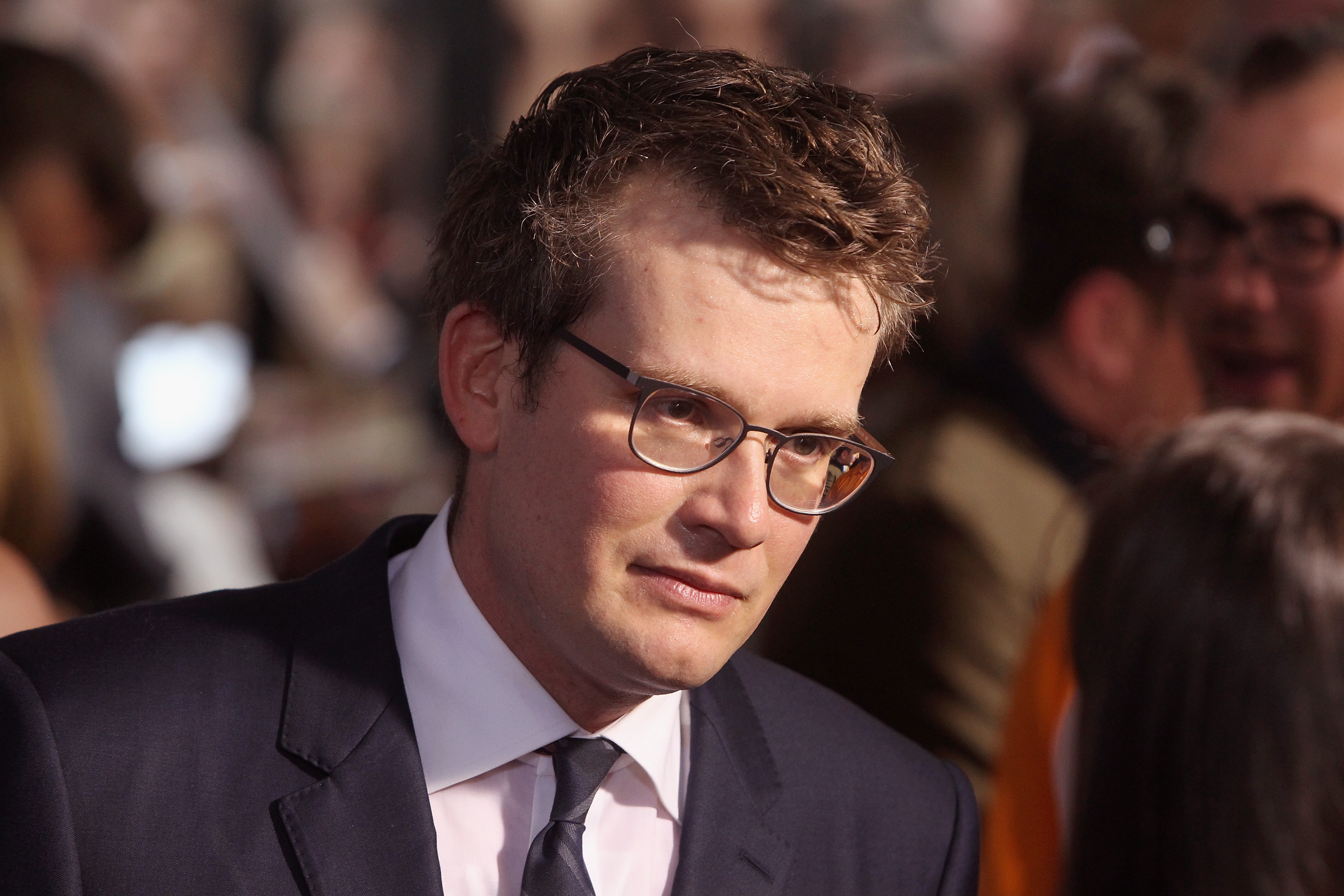 Author/producer John Green attends the  Paper Towns  New York premiere at AMC Loews Lincoln Square on July 21, 2015 in New York City.