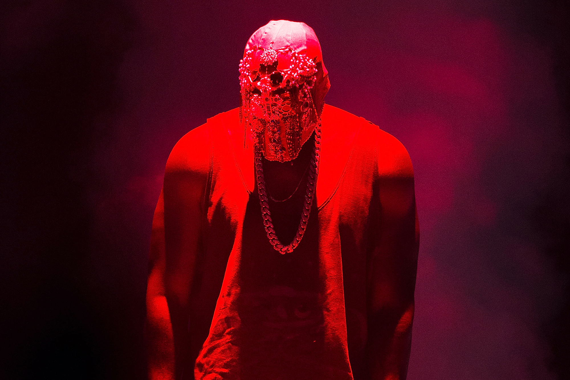 Kanye West performs during the Yeezus Tour in Sydney, Australia, on Sept. 12, 2014.