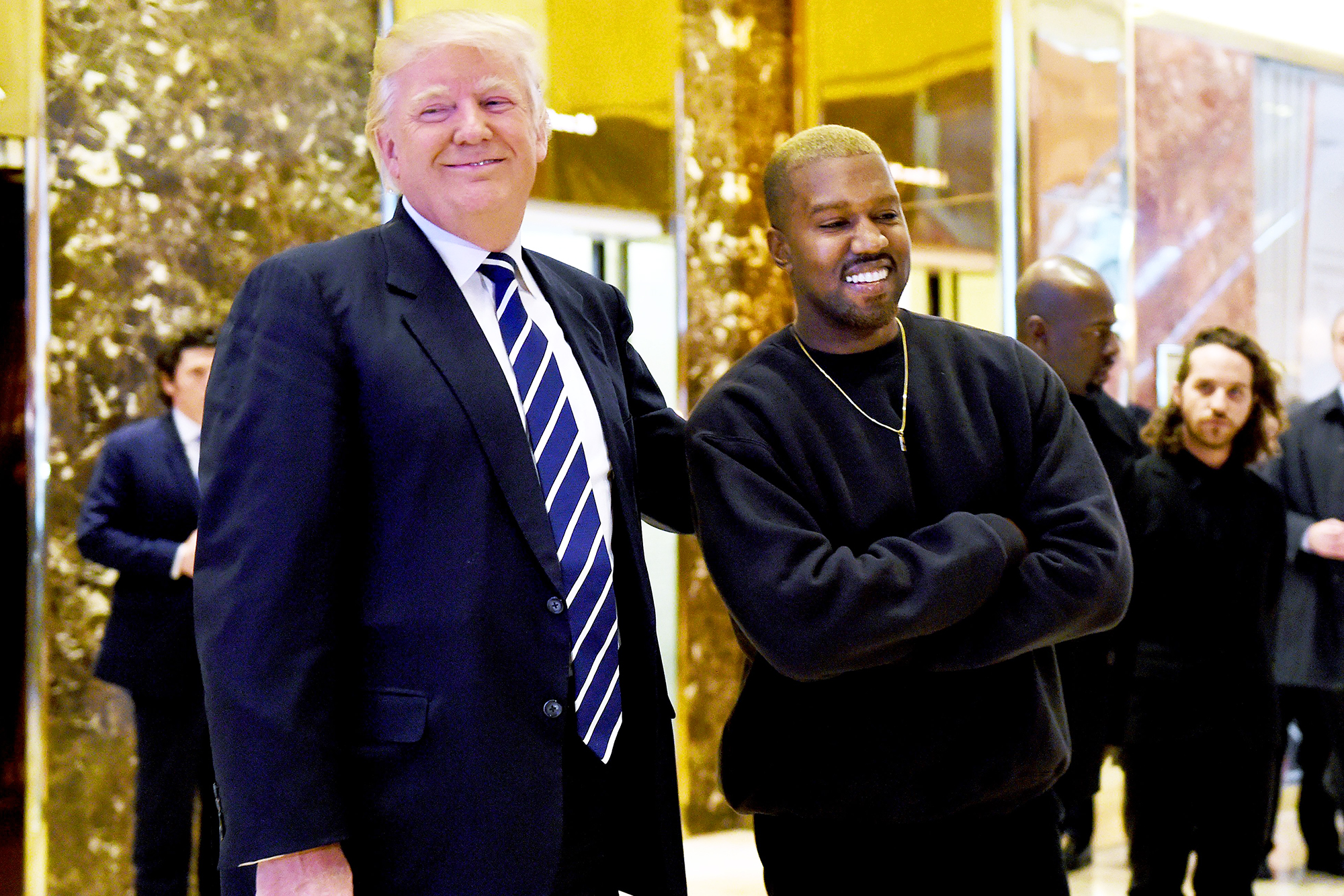 Donald Trump and Kanye West at Trump Tower in New York City, on Dec. 13, 2016.