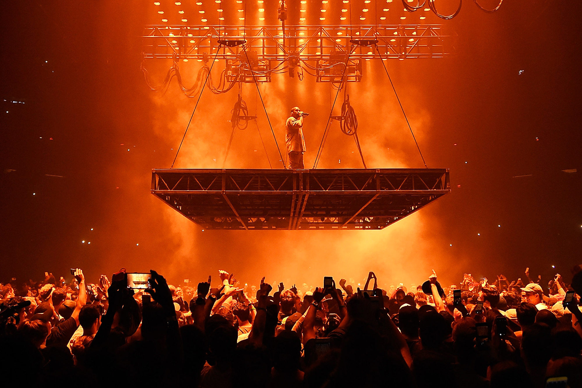 Kanye West performs during his Saint Pablo Tour at Madison Square Garden in New York City, on Sept. 6, 2016.