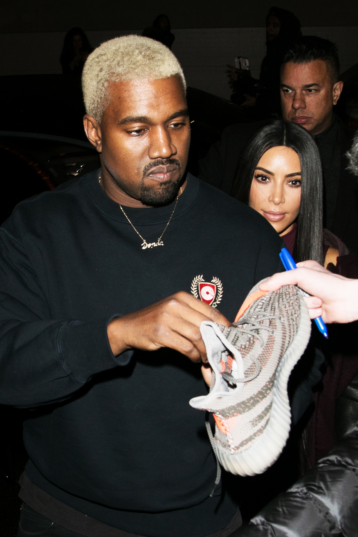Kanye West and Kim Kardashian in New York City, on Feb. 15, 2017.