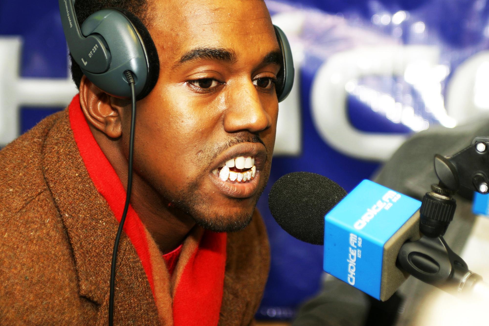 Kanye West in London, on Jan. 23, 2004.