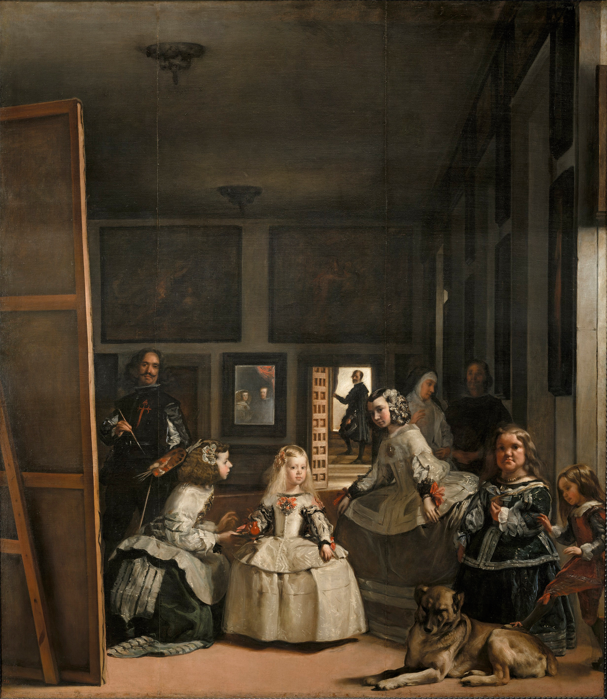 Las Meninas by Diego Velazquez, a 1656 painting of the Spanish royal family with his self portrait.