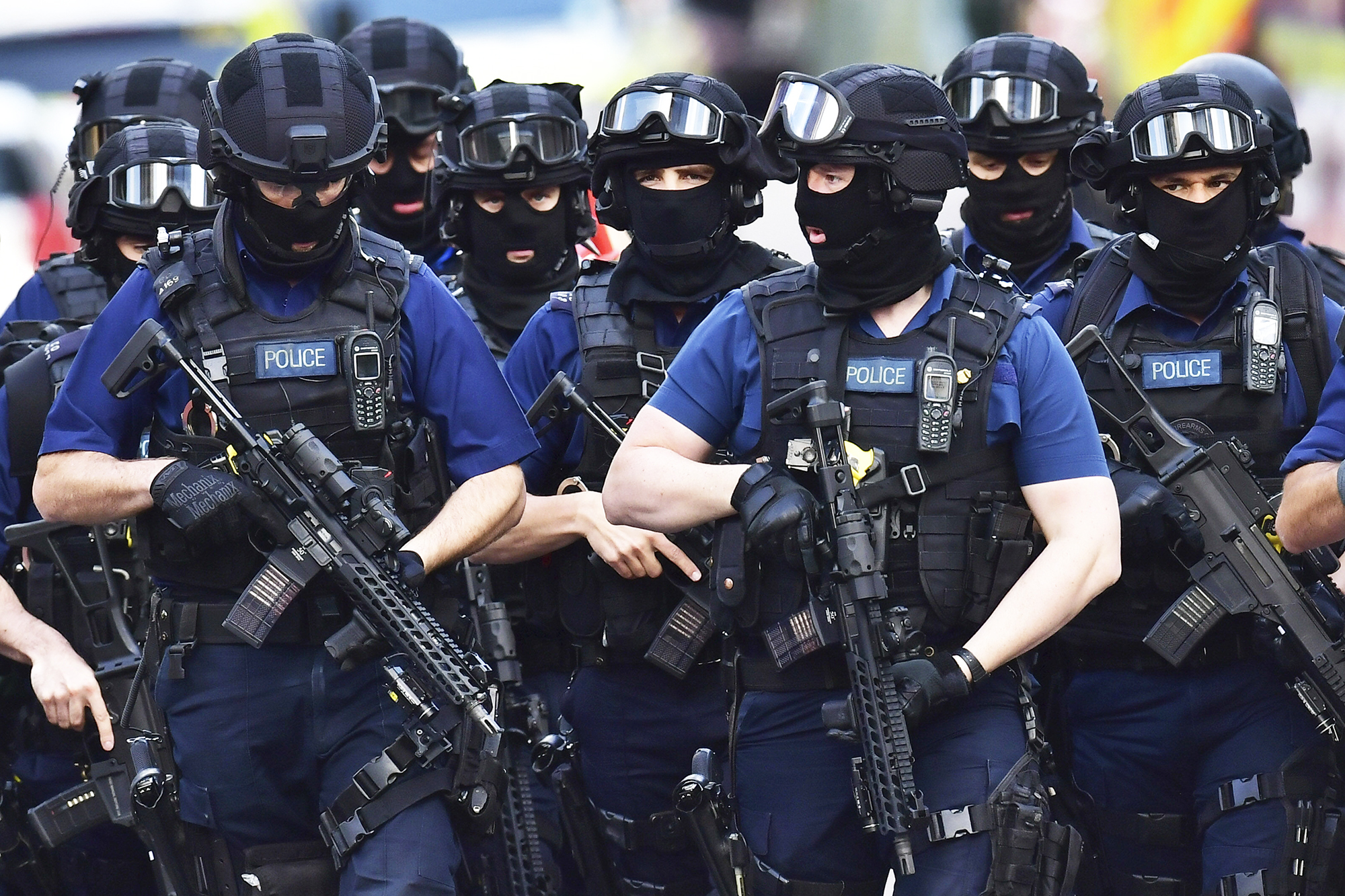 Armed police on St. Thomas Street, near the scene of a terrorist incident in London, on June 4, 2017.
