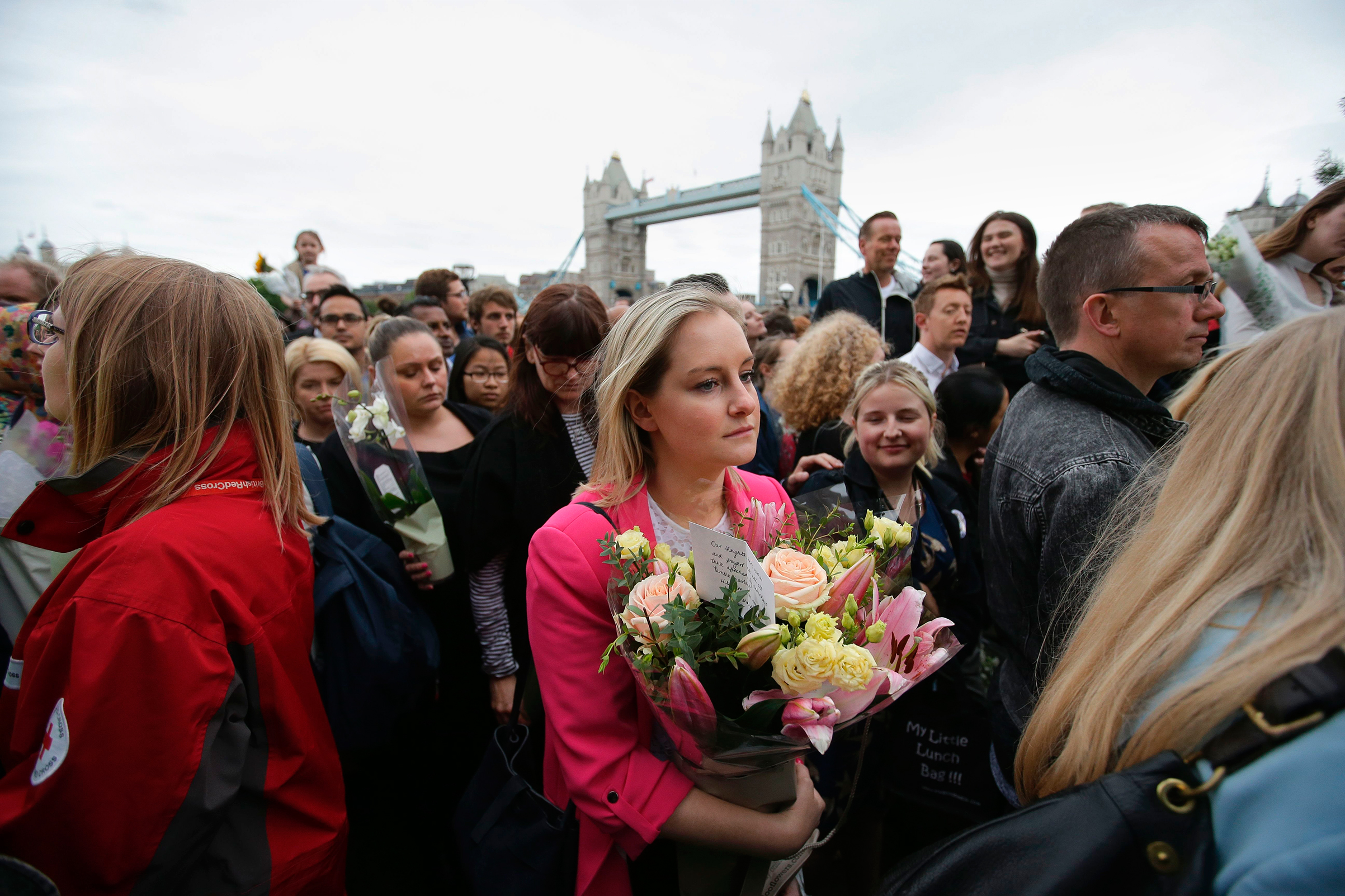 Londoners gathered at the city's Potters Fields Park on June 5 for a vigil to the victims of the London Bridge attack