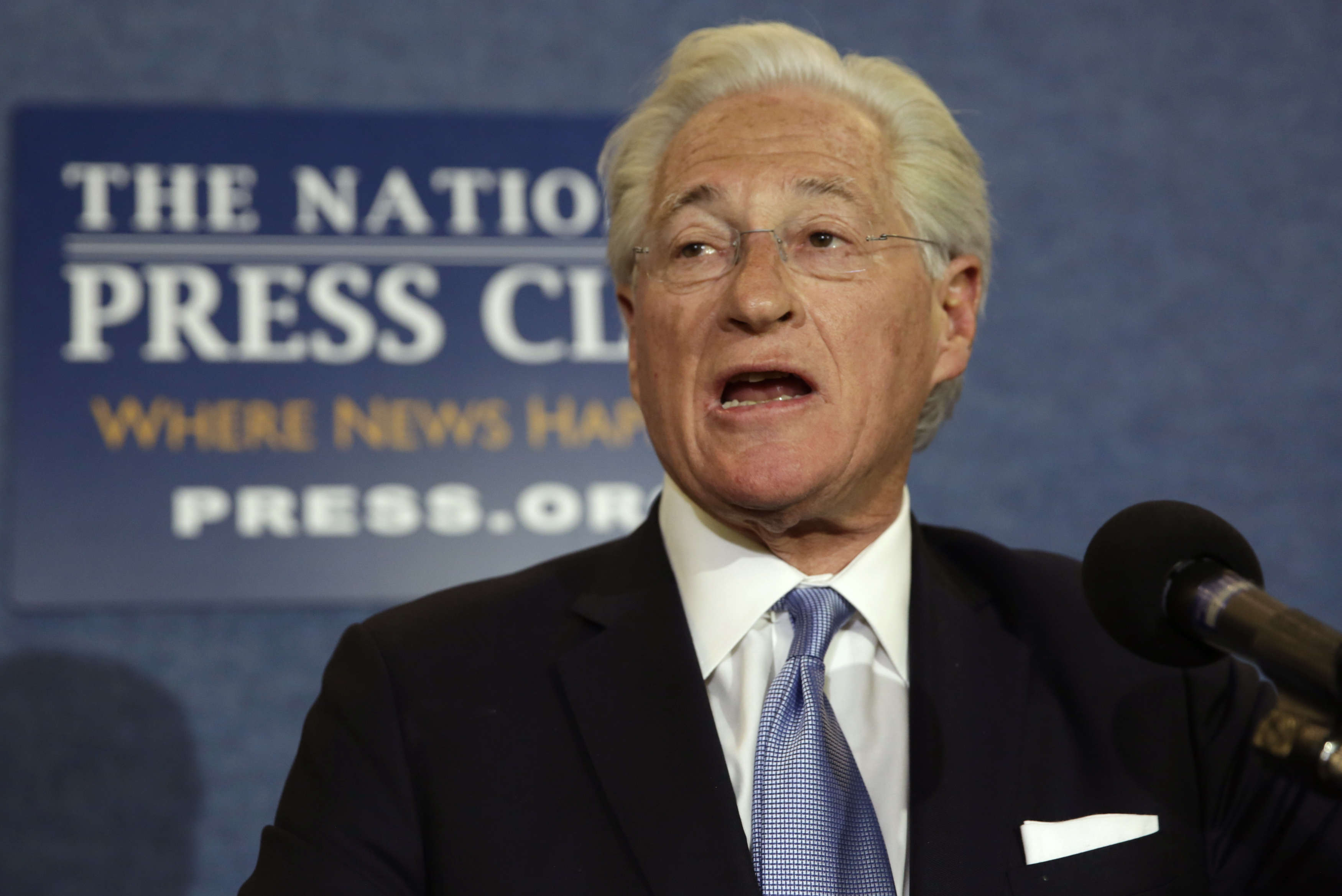 U.S. President Donald Trump's personal attorney, Marc Kasowitz, speaks to the news media after the congressional testimony of former FBI Director James Comey, at the National Press Club in Washington, U.S. June 8, 2017.