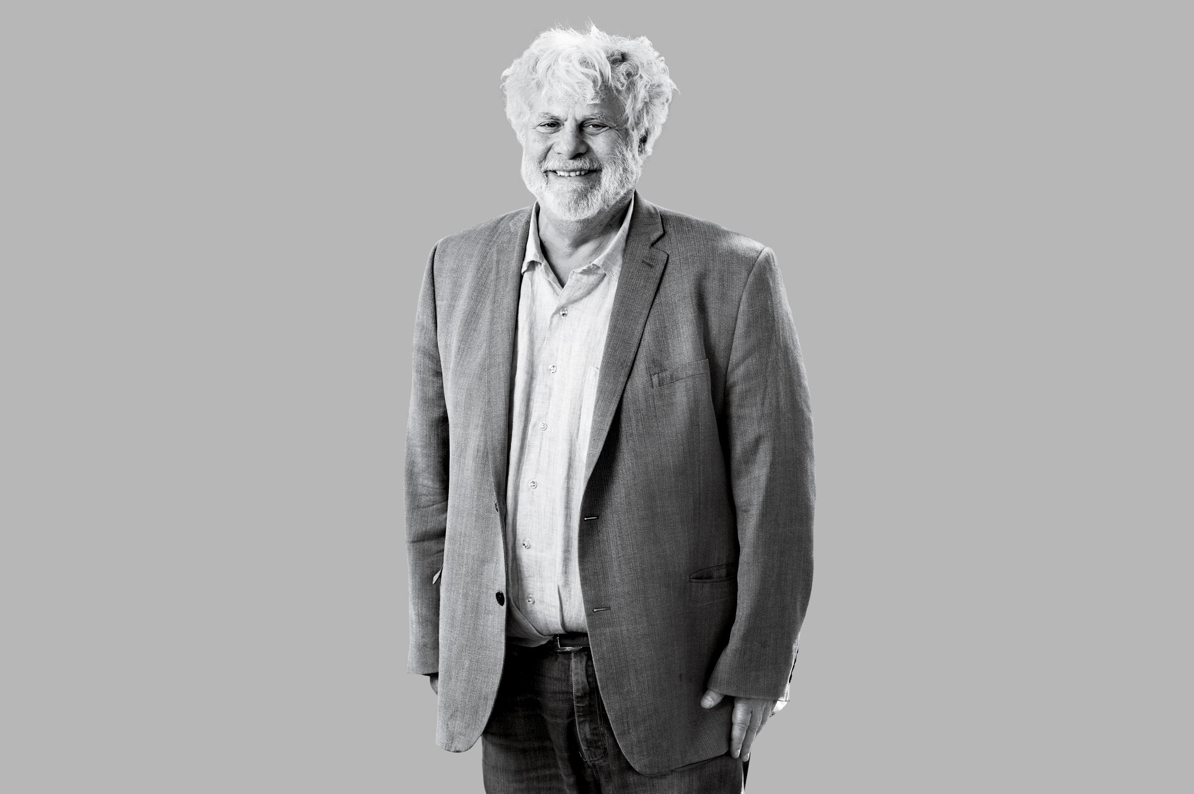 American journalist and writer Mark Kurlansky attends a photocall at Edinburgh International Book Festival at Charlotte Square Gardens on August 17, 2016 in Edinburgh, Scotland.