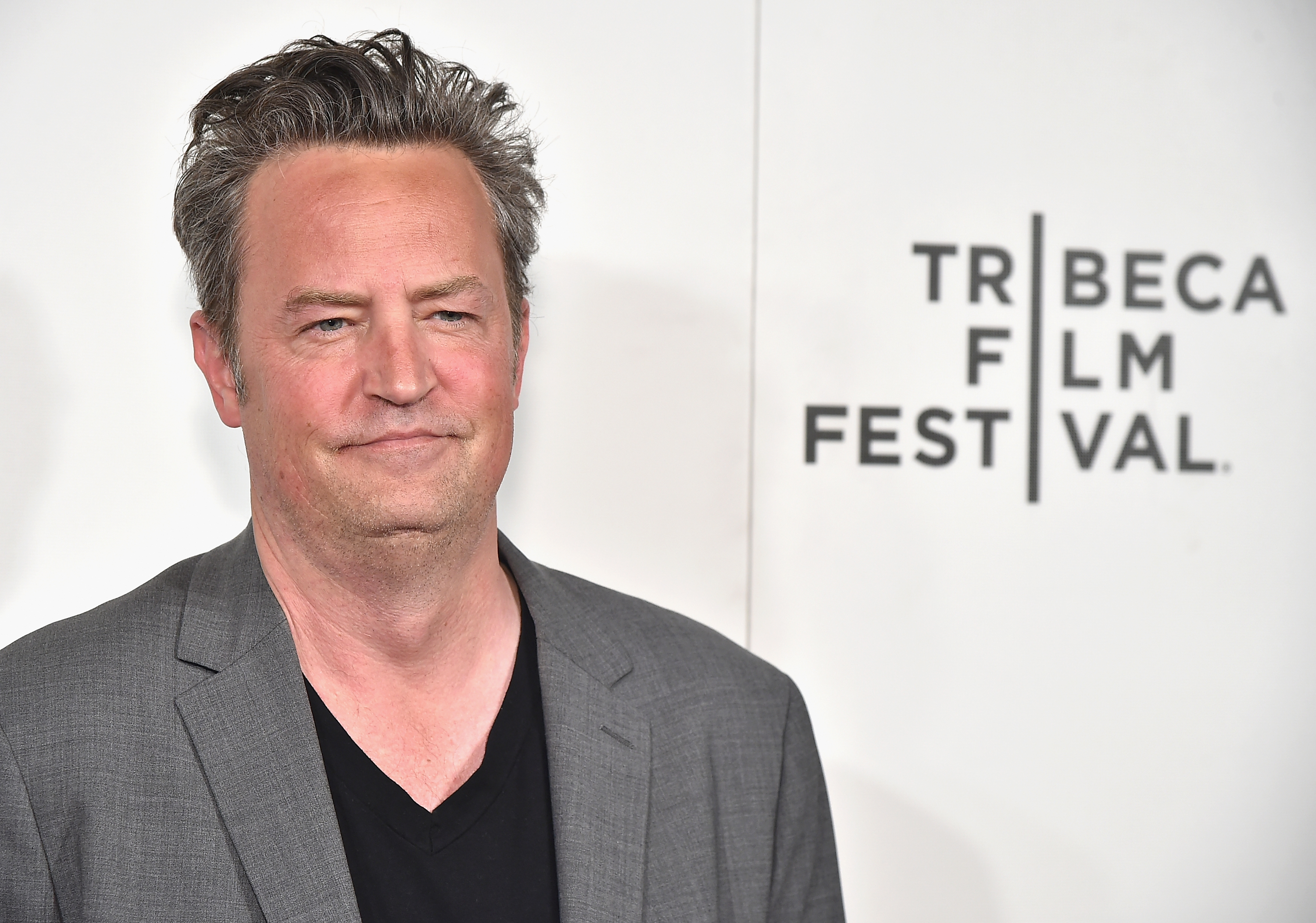 Matthew Perry attends  The Circle  Premiere at the BMCC Tribeca PAC on April 26, 2017 in New York City.