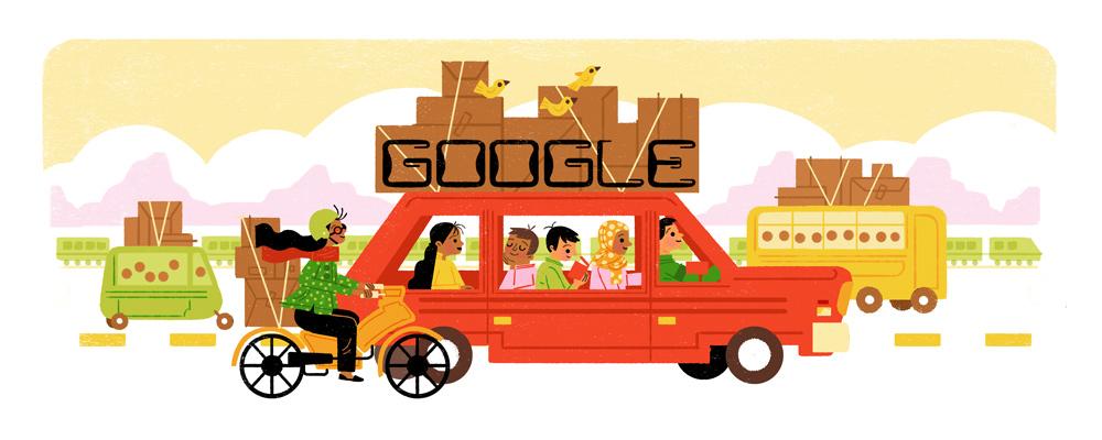 Mudik Google Doodle.