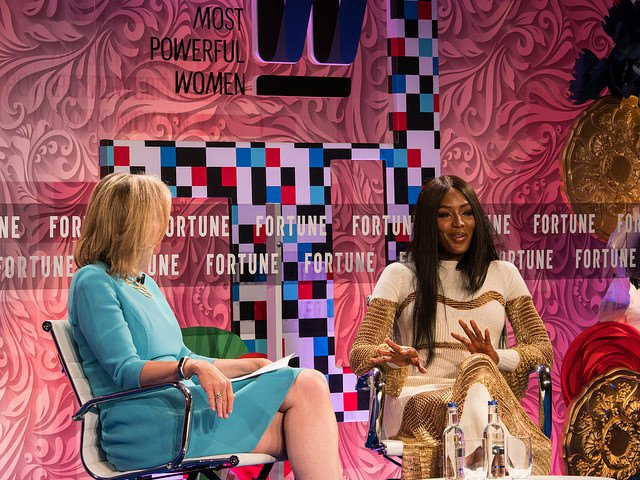 Naomi Campbell at Fortune magazine's Most Powerful Women Summit at the Dorchester Hotel, London. June 12 2017.