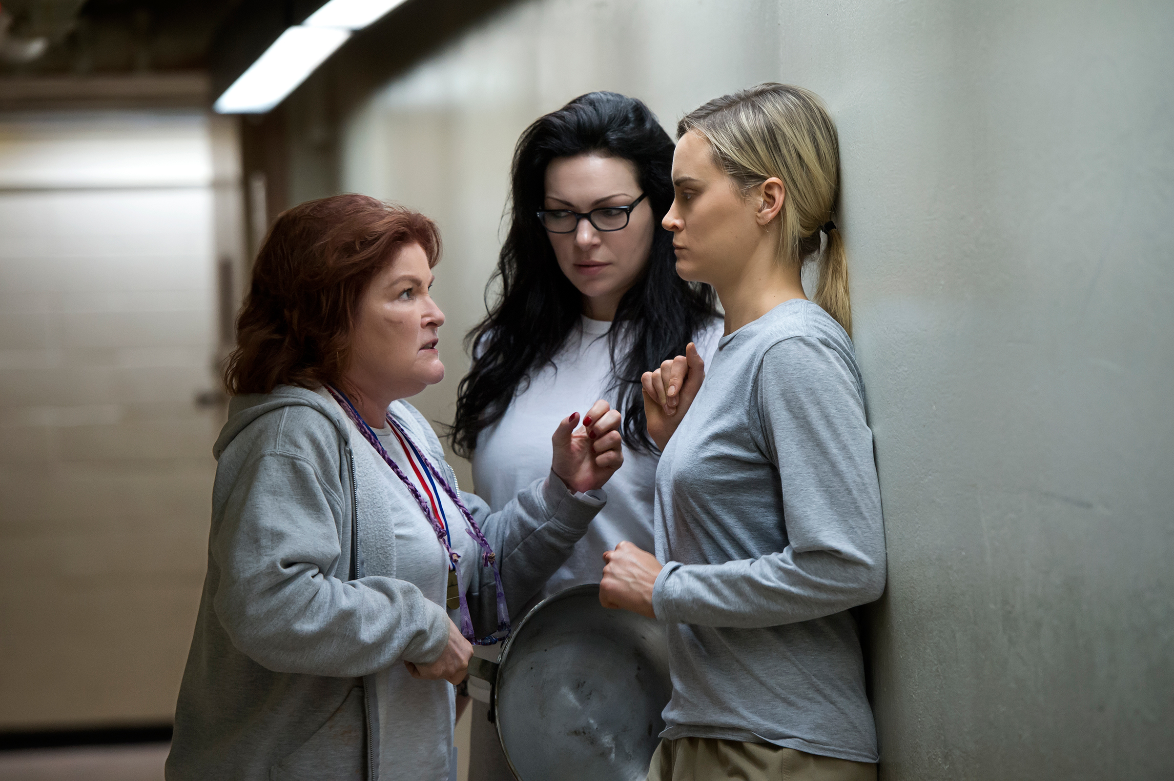 From left: Kate Mulgrew, Laura Prepon and Taylor Schilling aren't done plotting