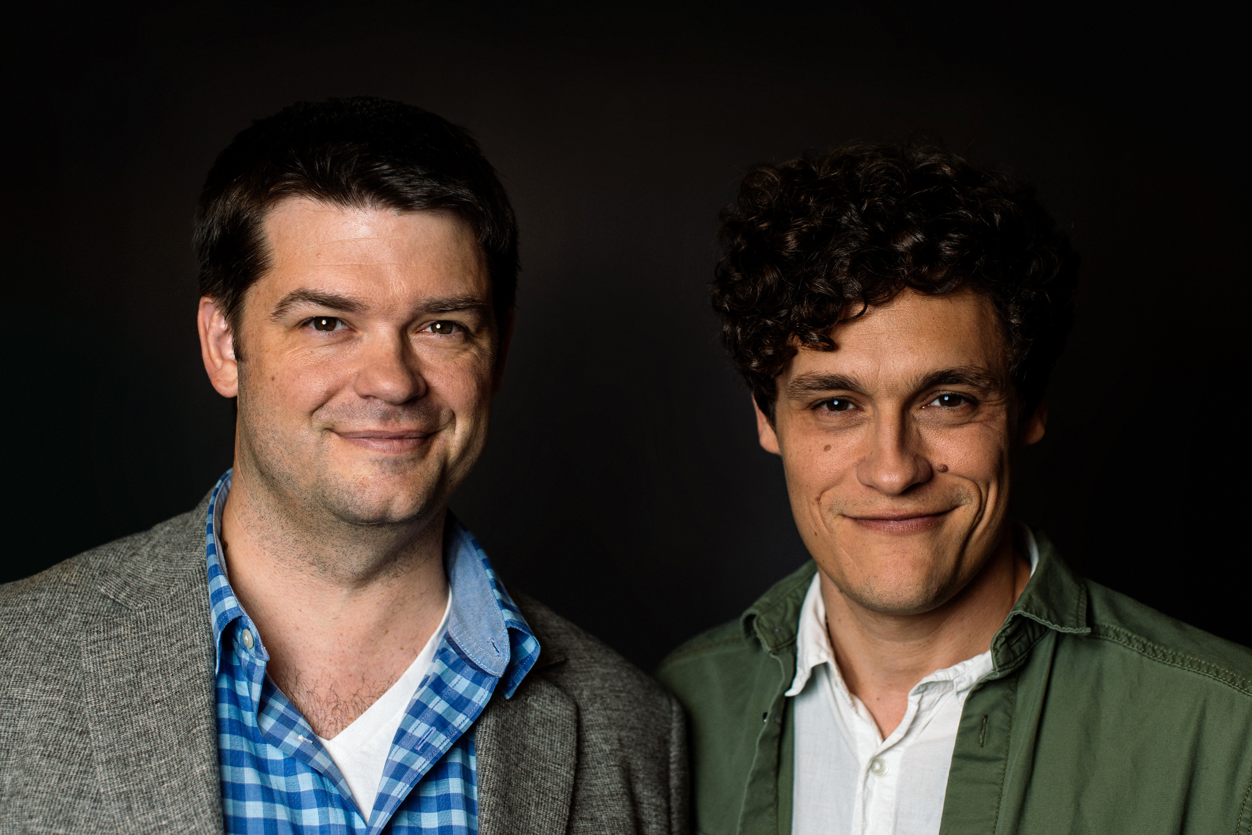 Chris Miller and Phil Lord pose for a portrait during the Star Wars Convention 2016 on July 15, 2016 in London, England.