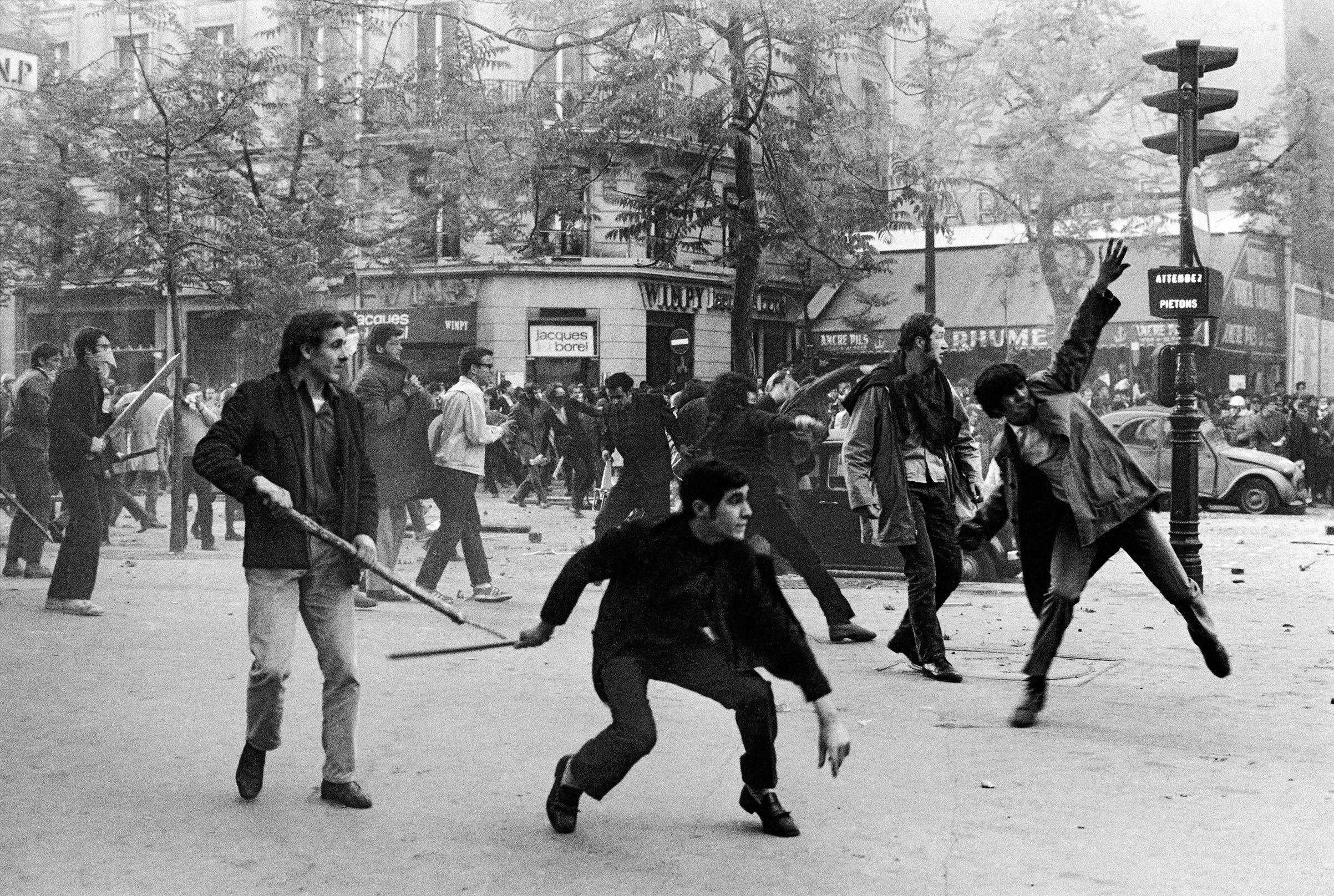Boulevard Saint-Germain. Paris, May 1968.
