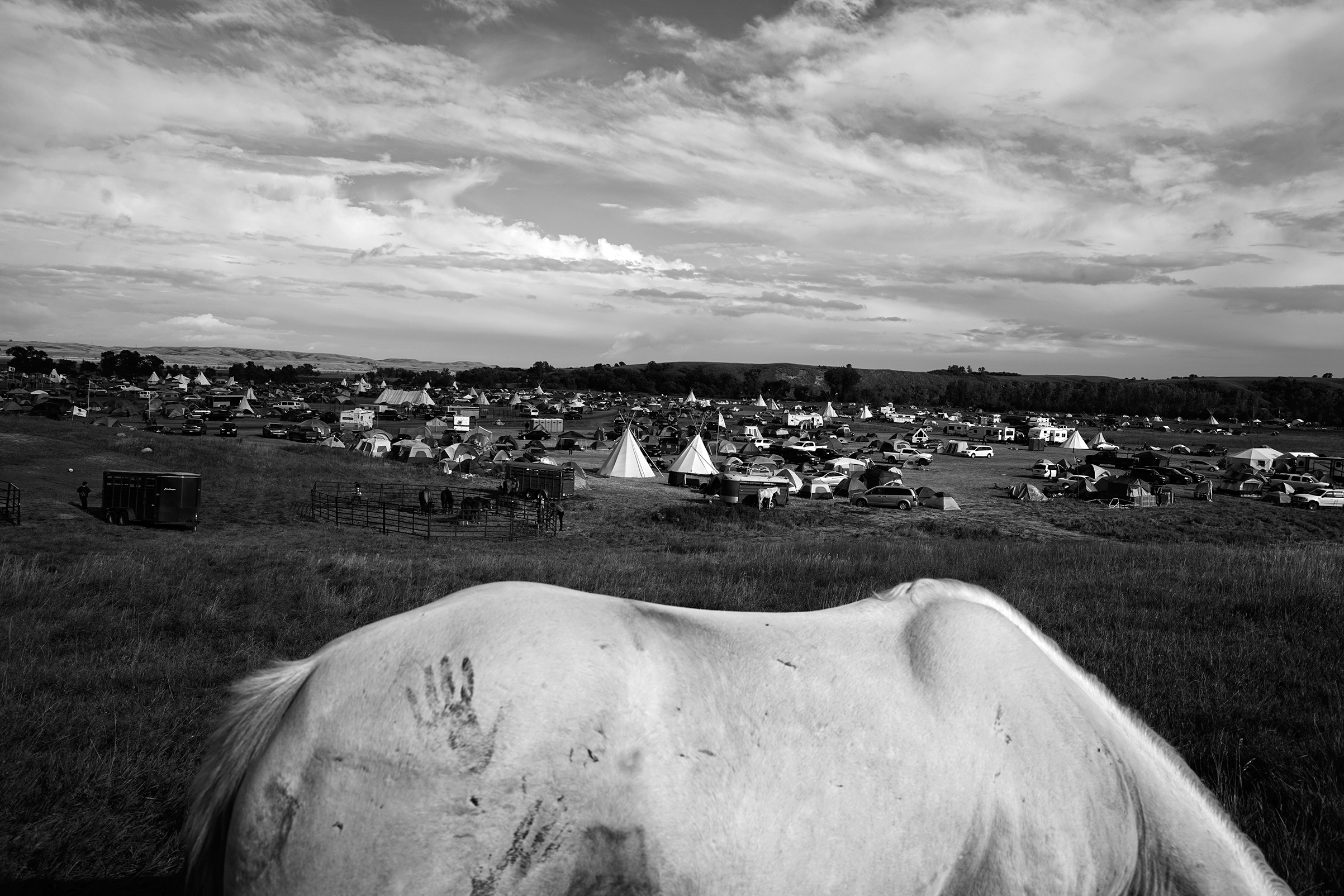 Sioux protest camp. Cannon Ball, North Dakota, September 2016.