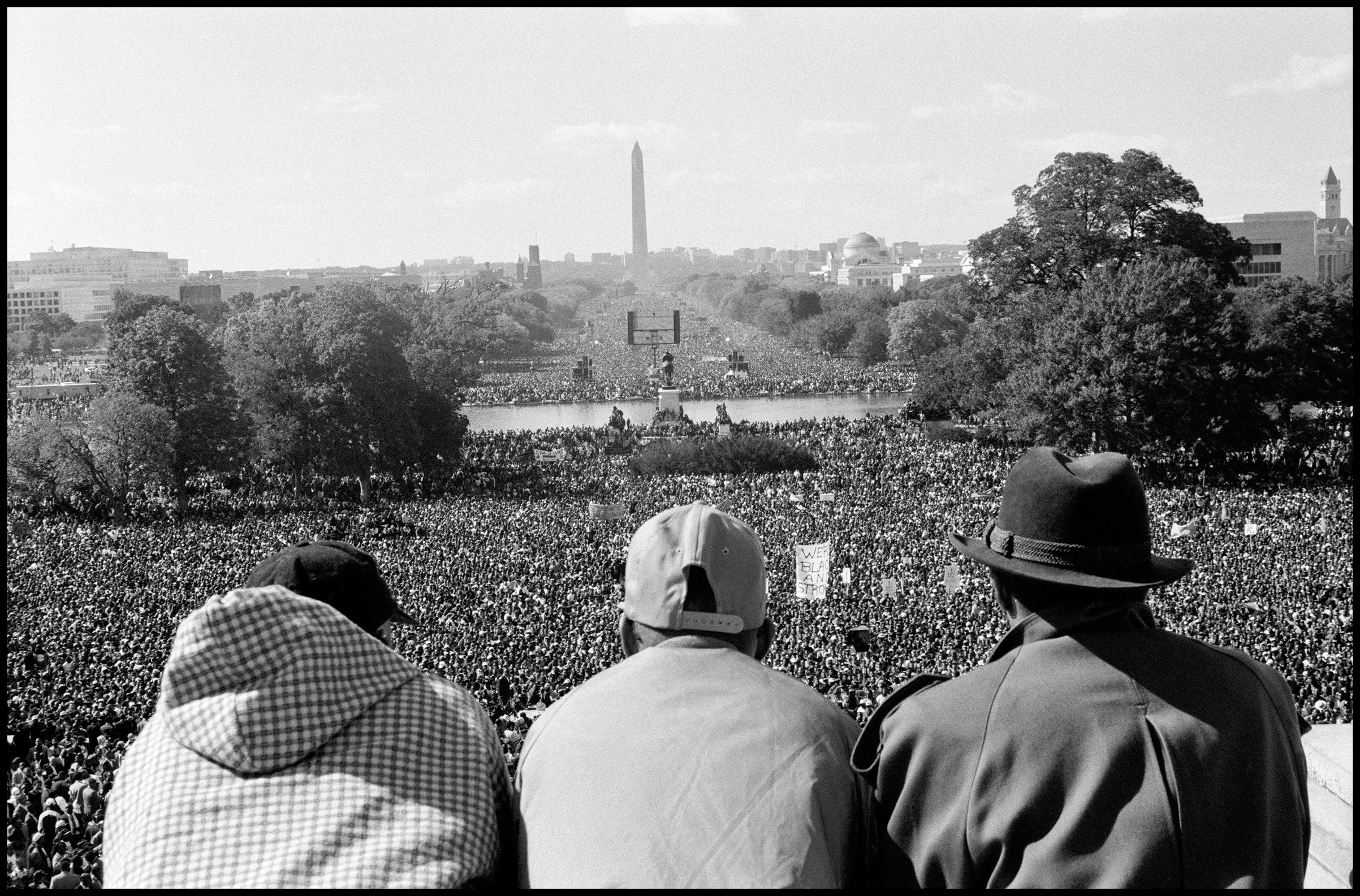 FARRAKHAN demonstration. The Million Man March. Washington, D.C., 1995.