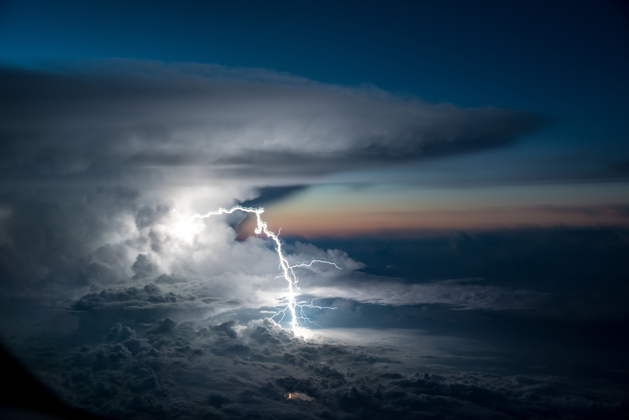 A storm developing over the Ecuadorean Amazonia.