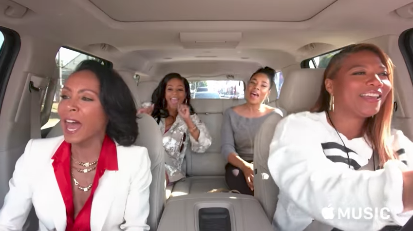 Girls Trip stars Regina Hall, Queen Latifah, Jada Pinkett Smith and the glorious Tiffany Haddish